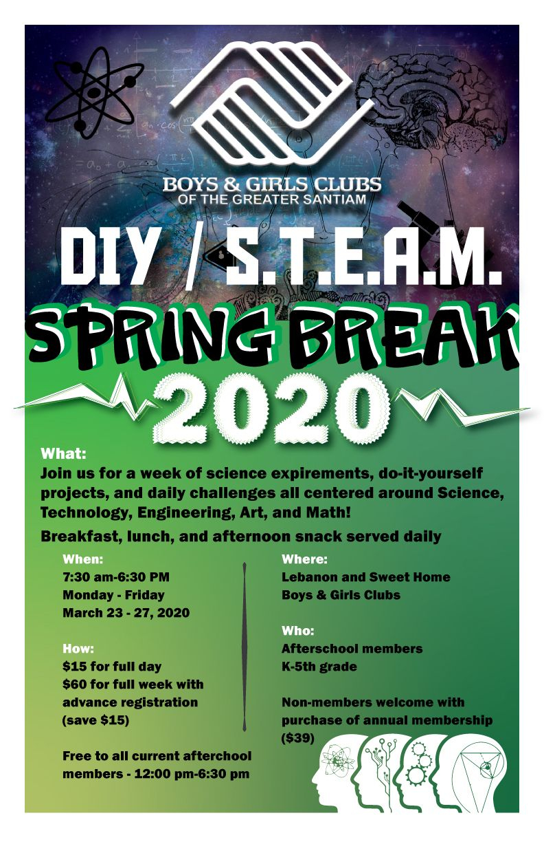 Boys & Girls Clubs Of The Greater Santiam : What We Do With Regard To Boys And Girls Club Spring Break