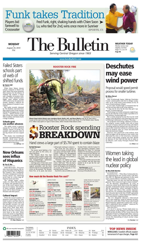Bulletin Daily Paper 08/23/10Western Communications, Inc For 2021  2020 Hesperia School District Calendar
