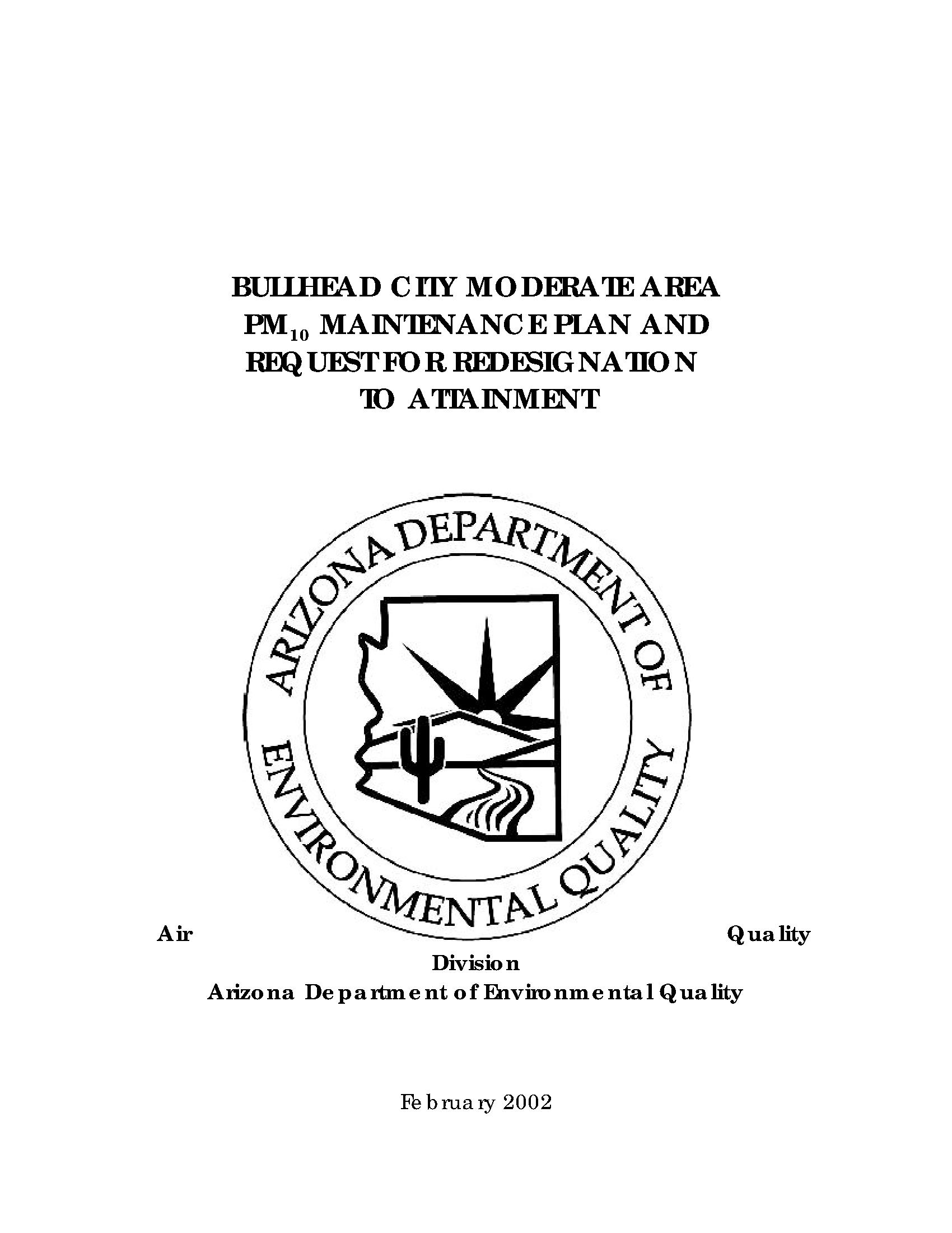 Bullhead City Moderate Area Pm10 Maintenance Plan And For 2021  2020 Hesperia School District Calendar