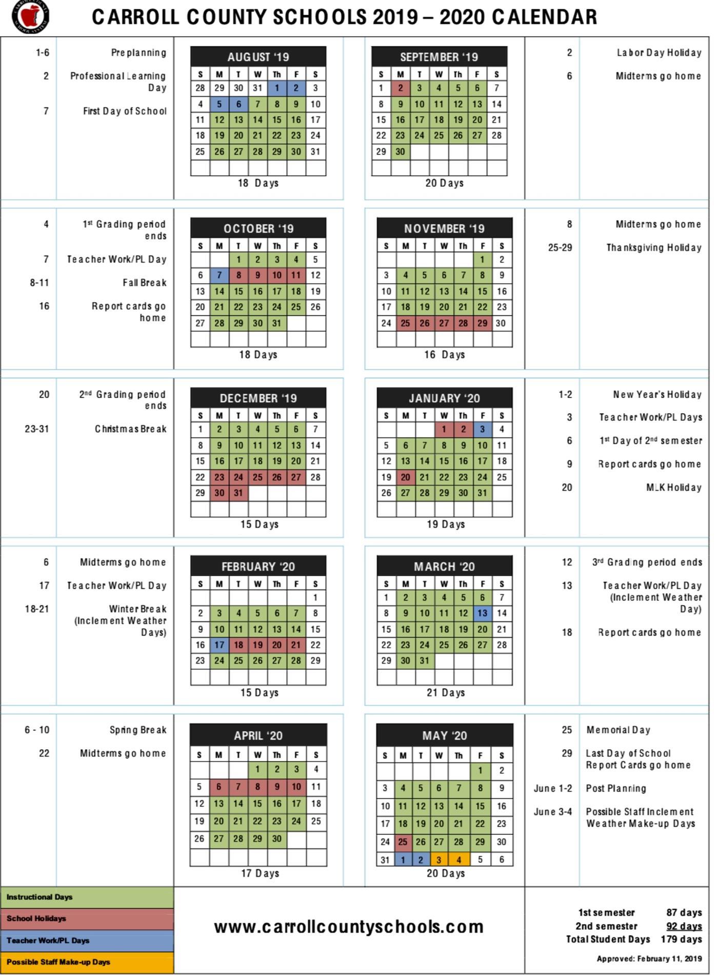 Calendar - Bay Springs Middle With Fayette County Georgia School Calendar