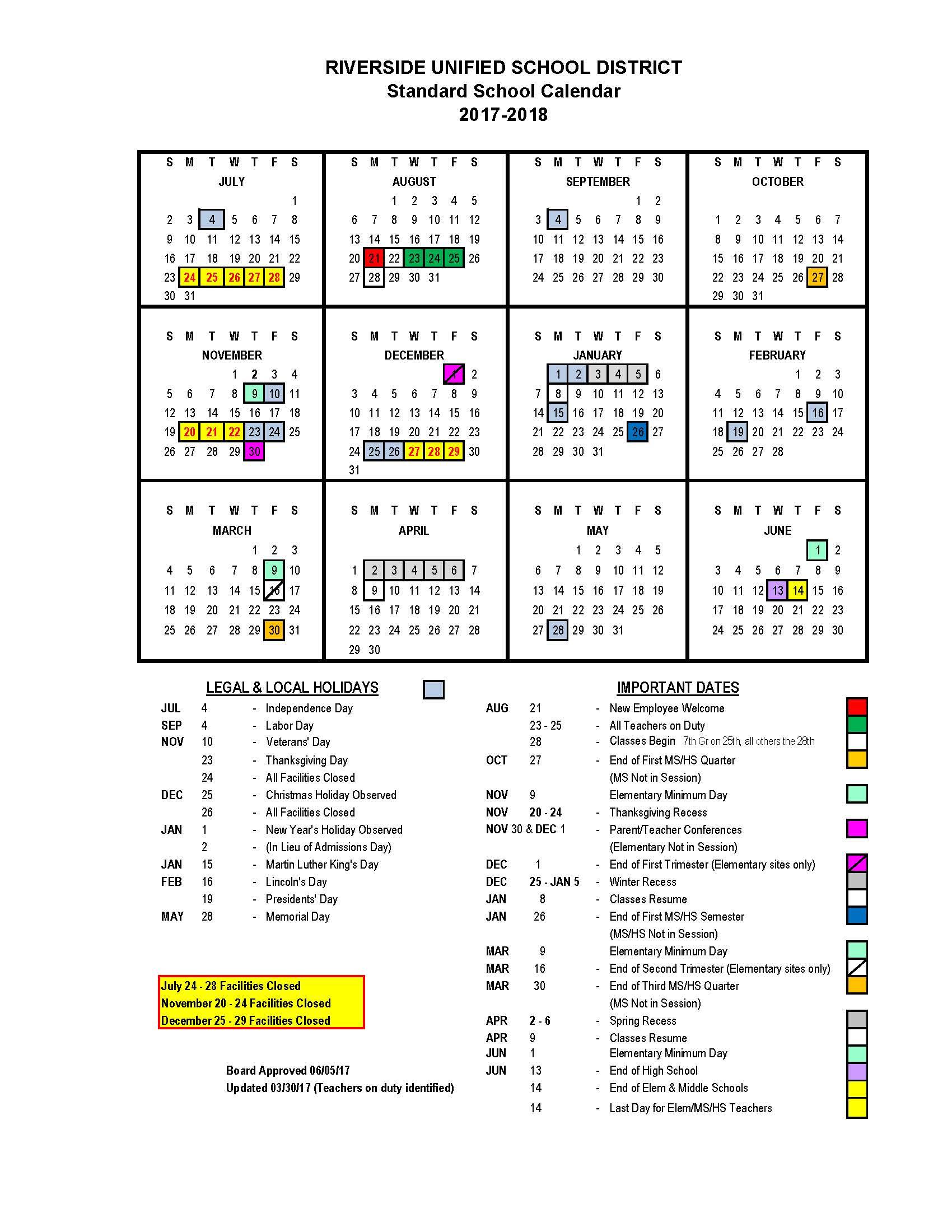 Calendar – Educational Options Center In Martin County School District Calendar