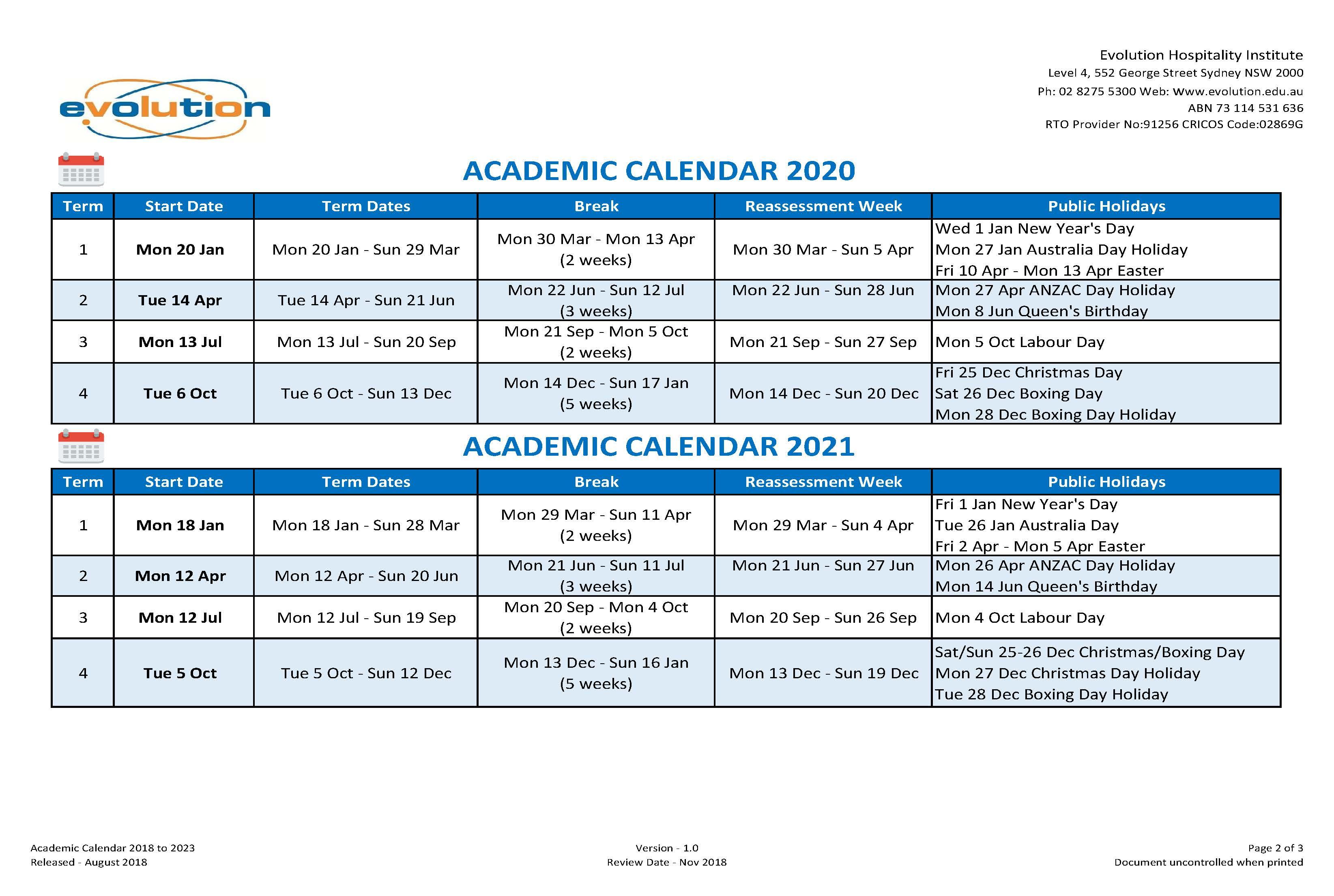 Calendar & Intake Dates | Ehi intended for Kent State University Academic Calendar 2021