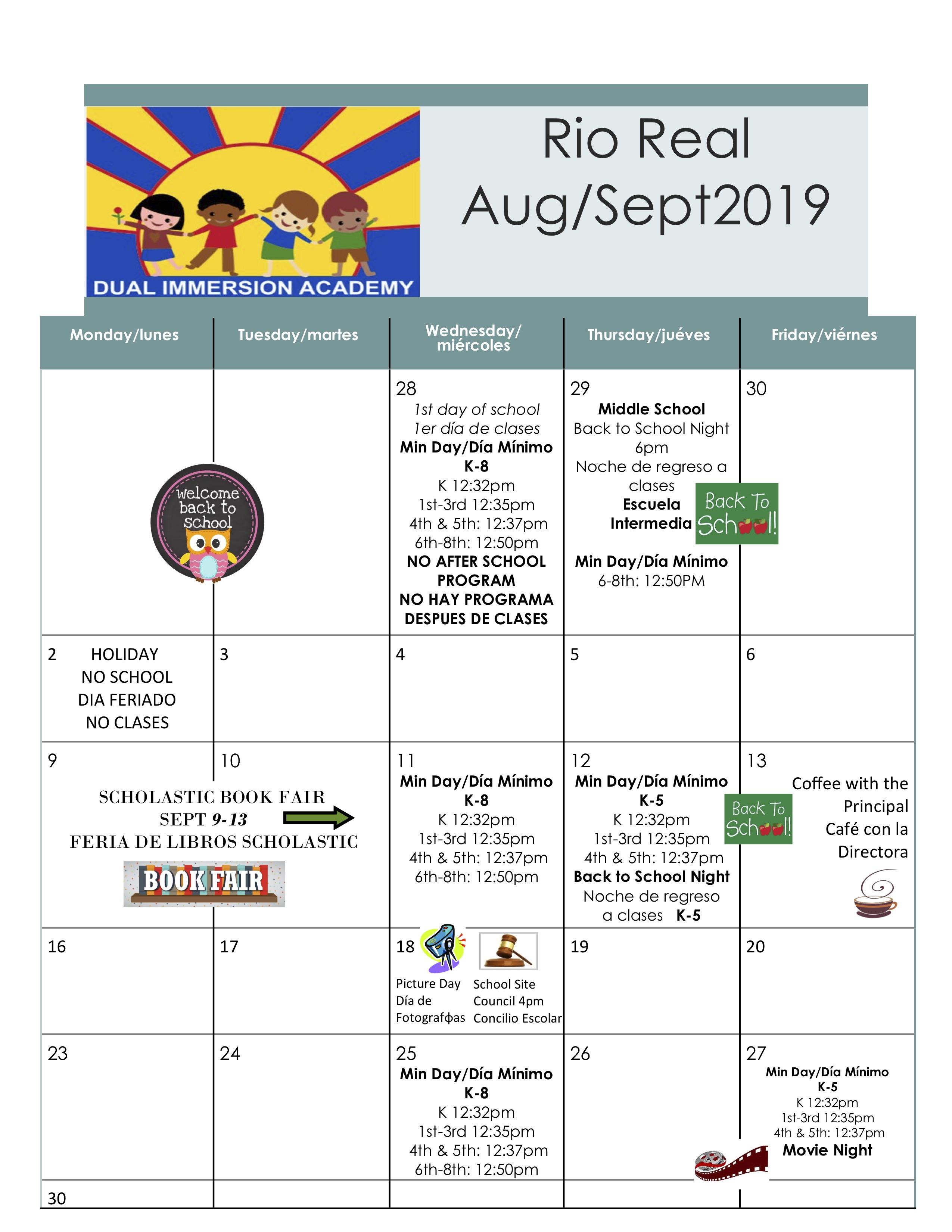 Calendar – Rio Real School Within Del Rio High School Calendar