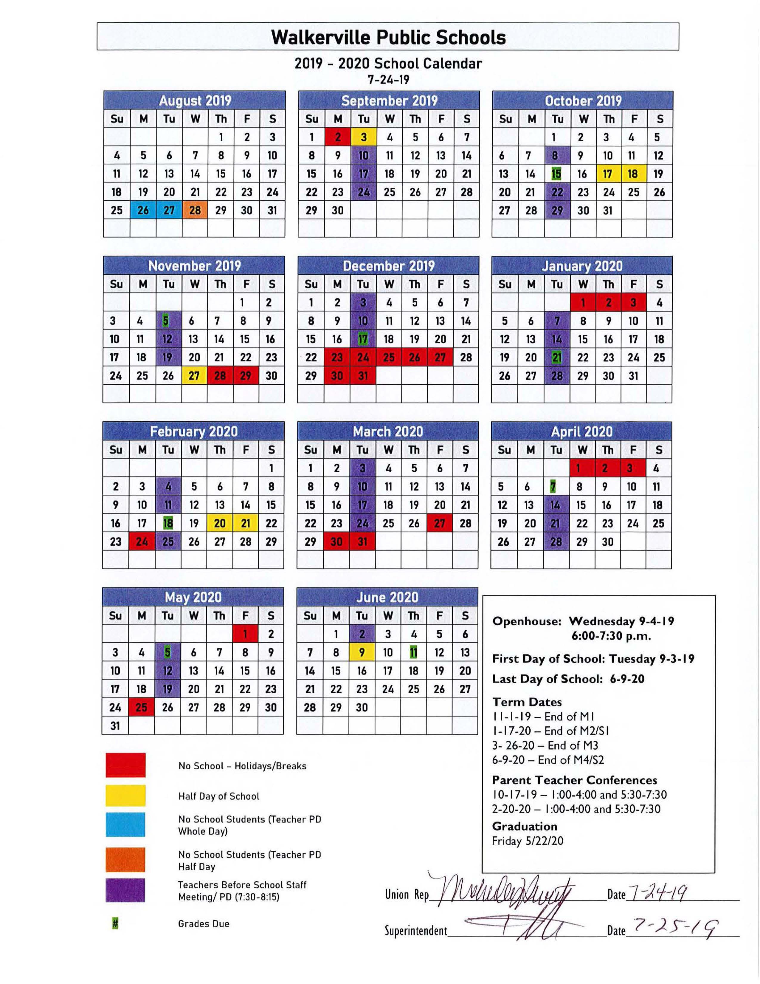 Calendar - Walkerville Wildcats With Grand Haven High School Clendar