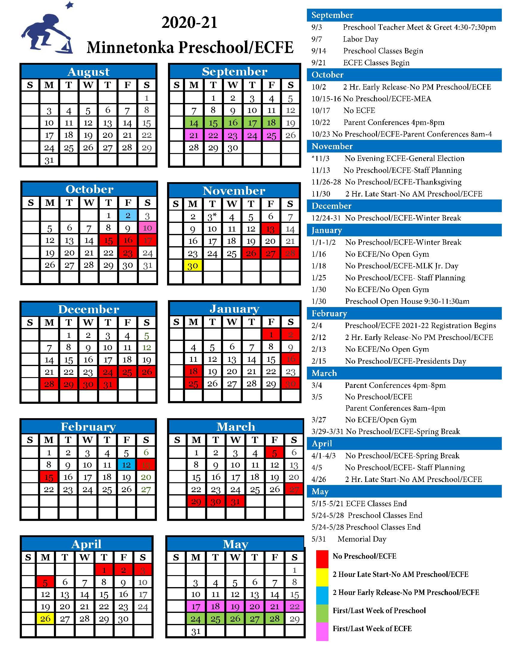 Calendars - Minnetonka Public Schools   Innovate. Inspire Intended For Eden Prairie High School Calendar