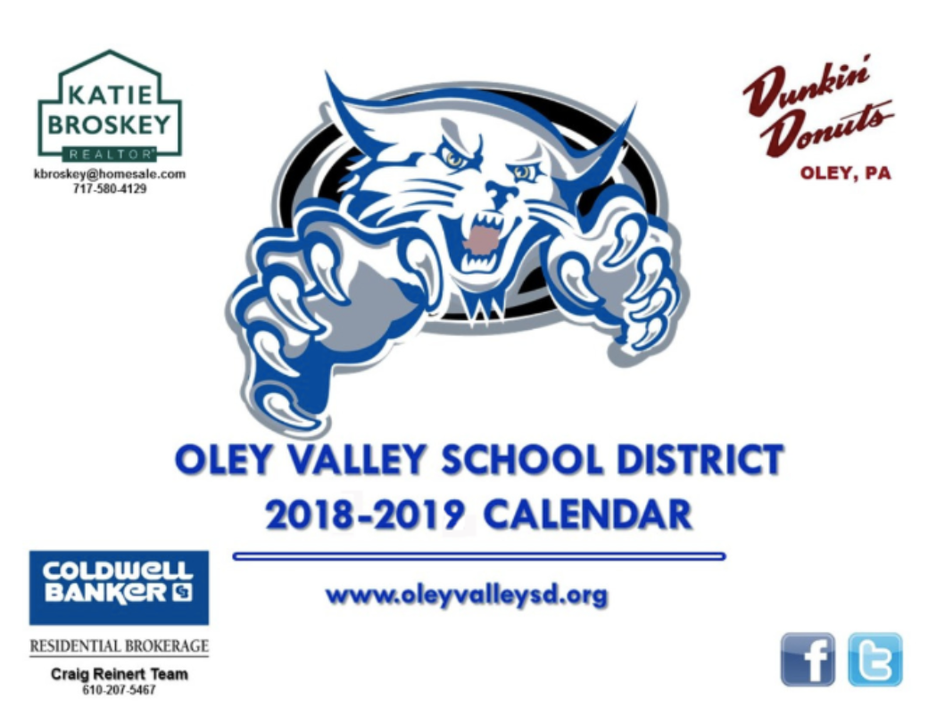 Calendars – Oley Valley School District Within Cumberland Valley School District Calendar