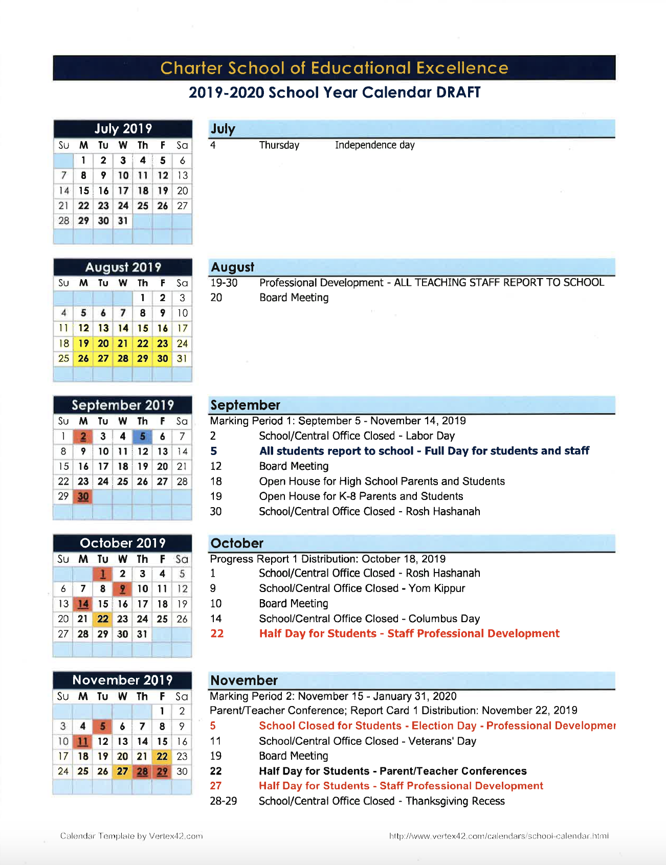 Calendars – Parents – Charter School Of Educational Excellence In Academic Calender For Middlesex County College For 2021