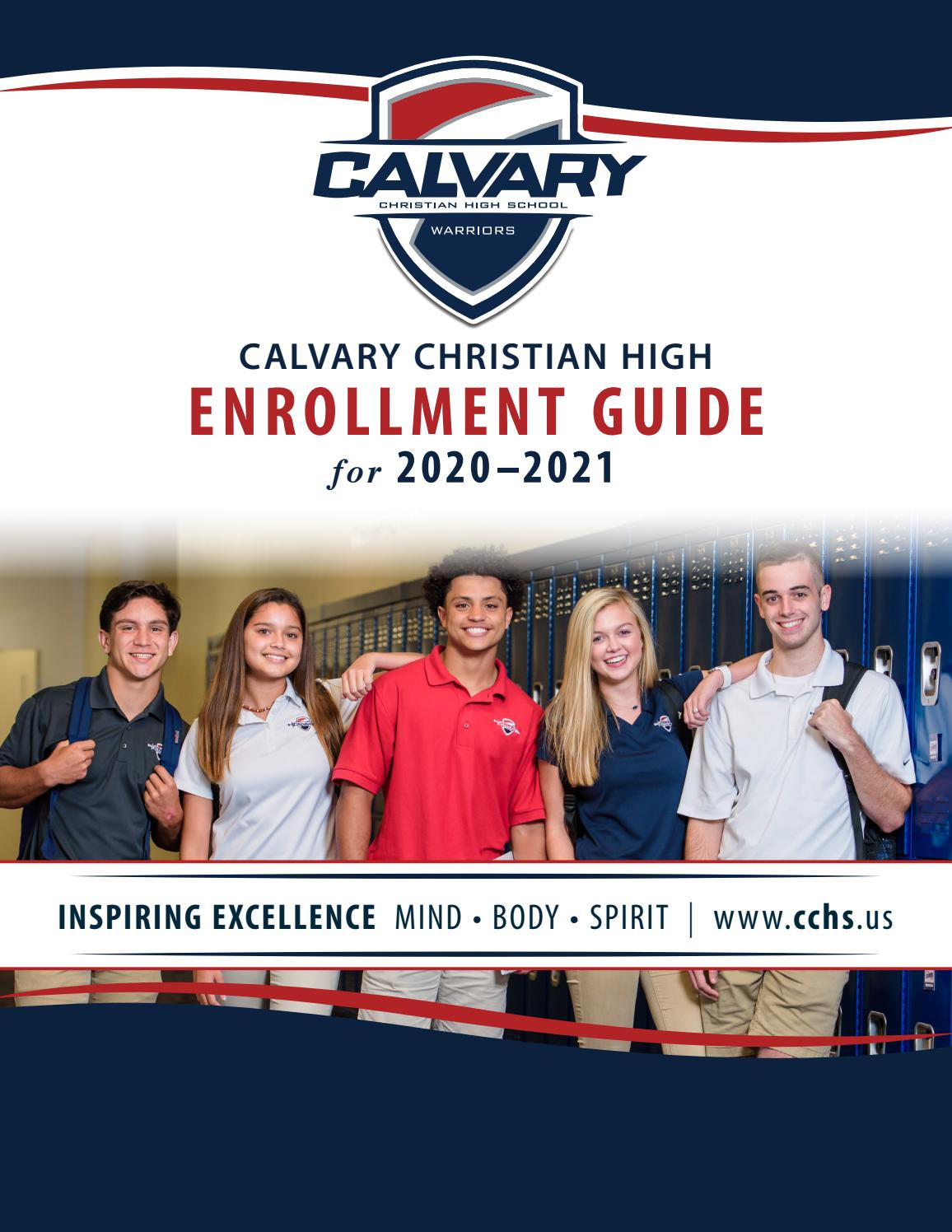 Calvary Christian High School Enrollment Guidewarriors1 Throughout When Does The 2021 Semester End For Grand Haven High School