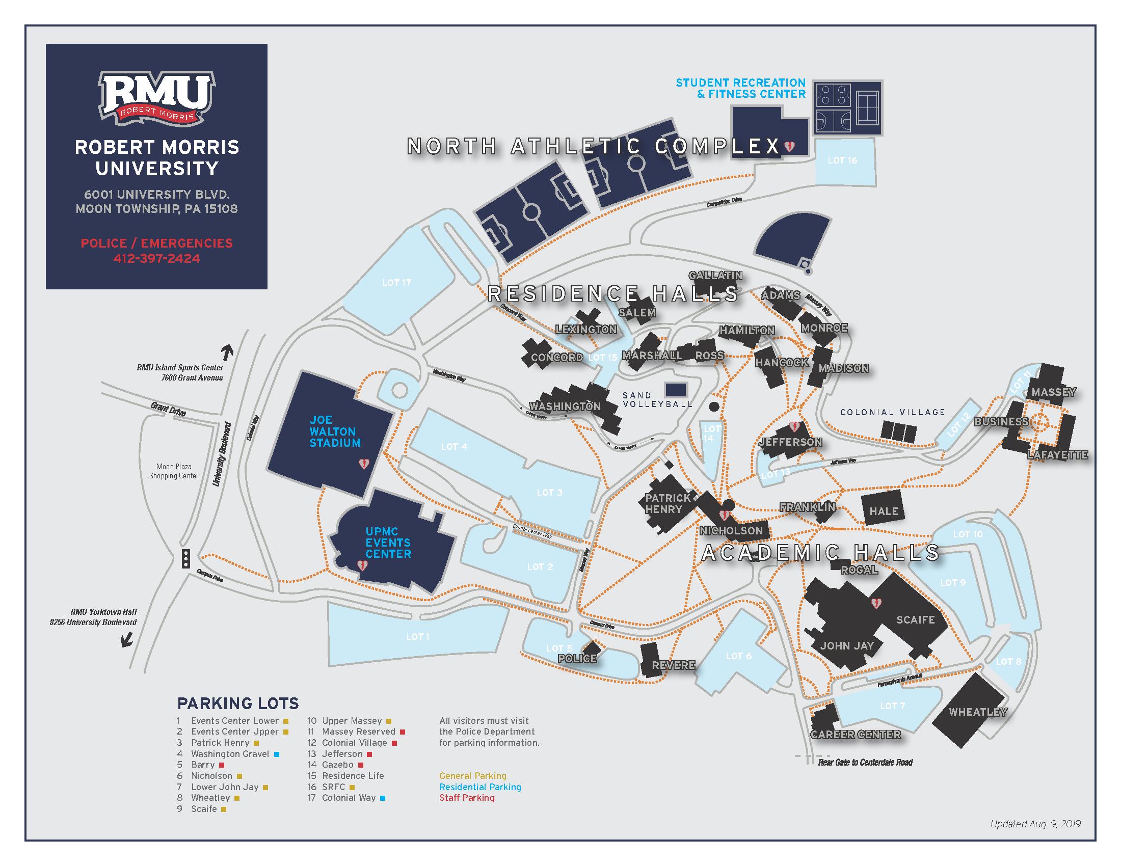 Campus Map   Robert Morris University Intended For Robert Morris University Academic Calendar