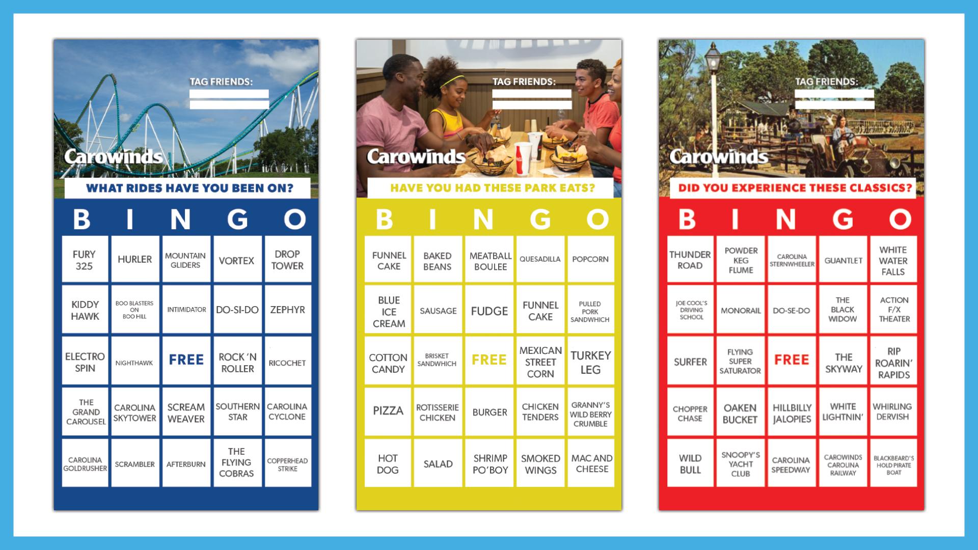 Carowinds Bingo - Carowinds With Regard To Turning Stone Bingo Calendar 2021 November