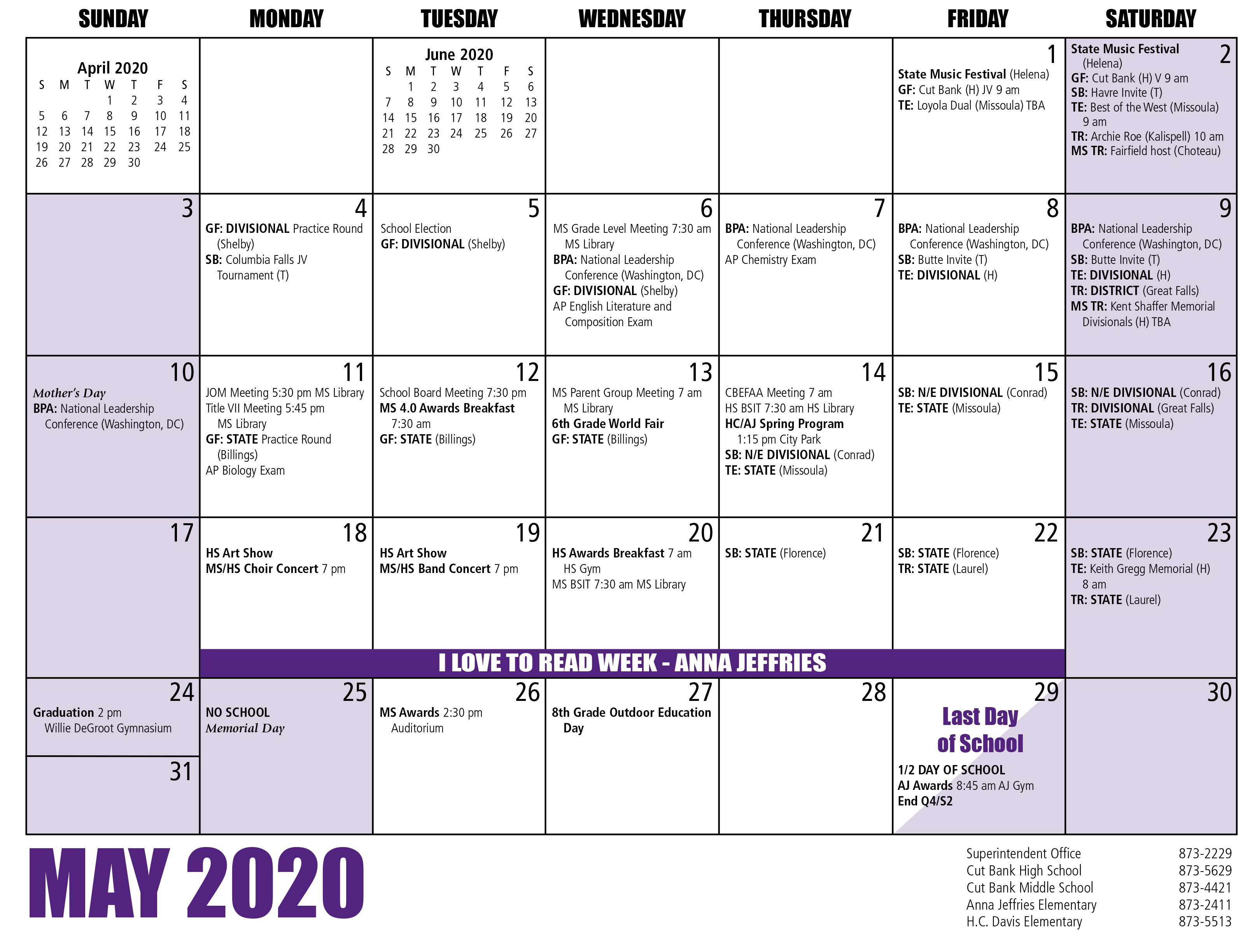 Cbps – Calendar With Regard To Billings School Distric 2 Calendar