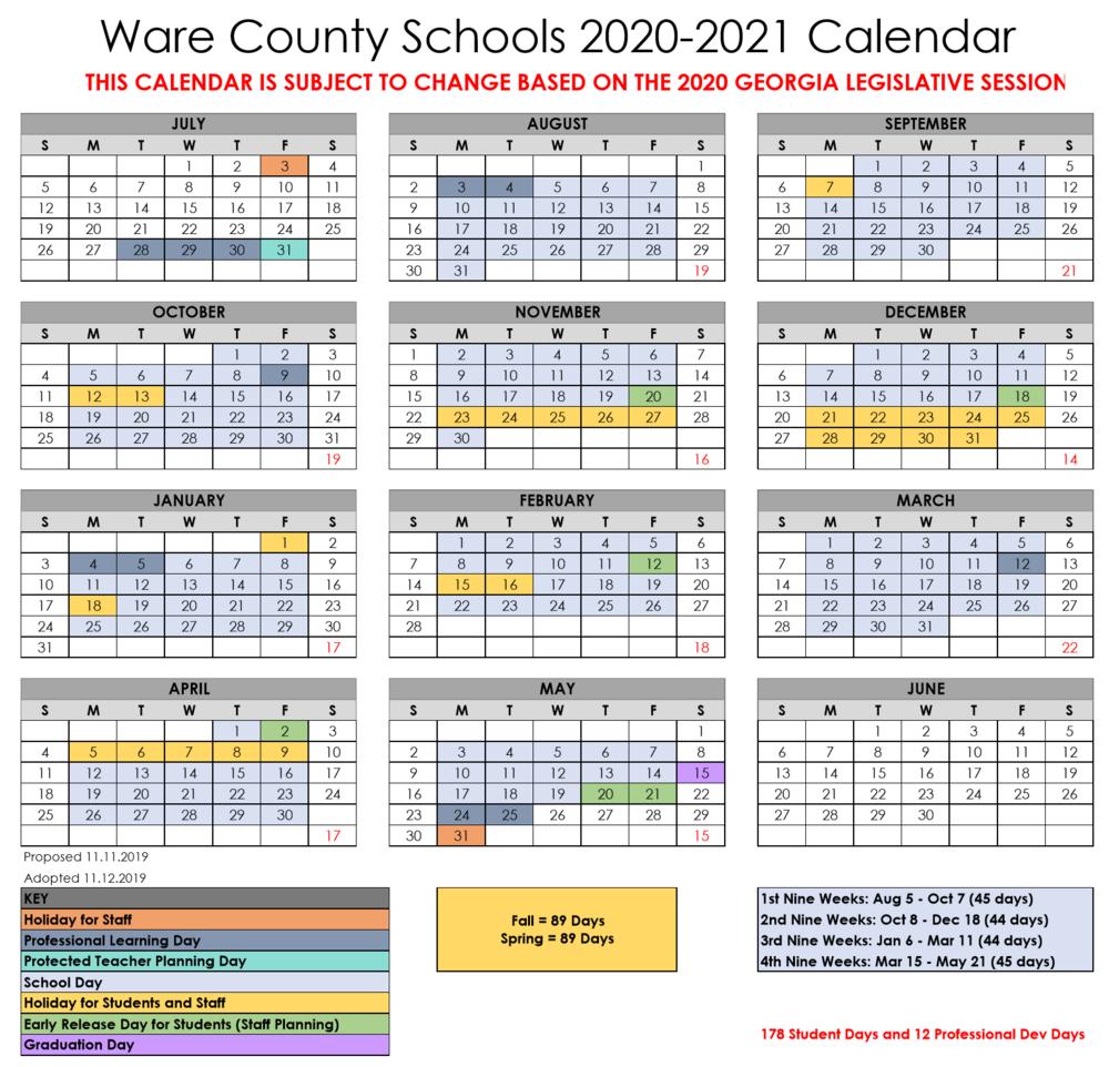 Center Elementary School Inside Georgia State School Calendar 2020