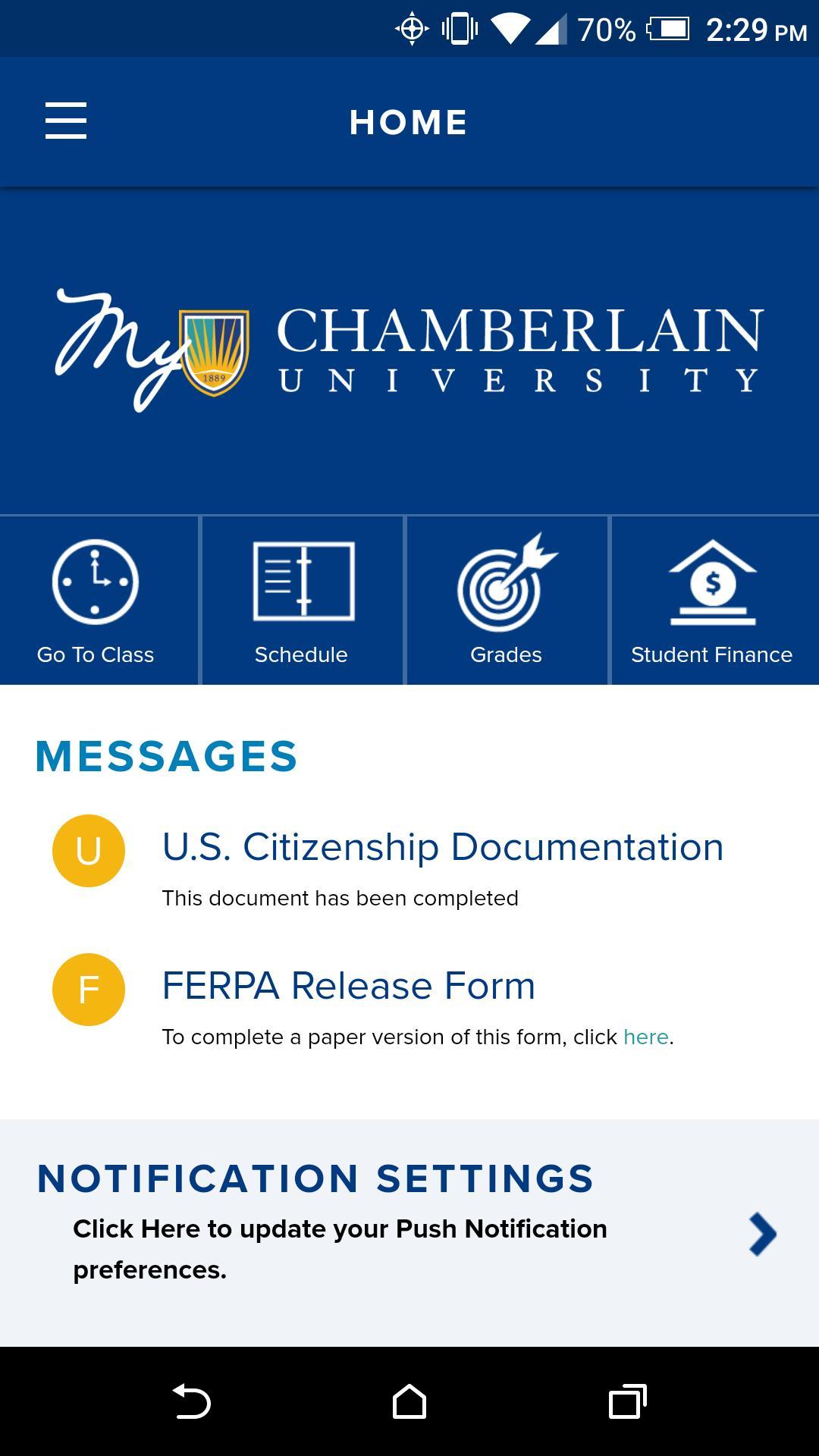 Chamberlain For Android – Apk Download Intended For Chamberlain Academic Calendar 2020