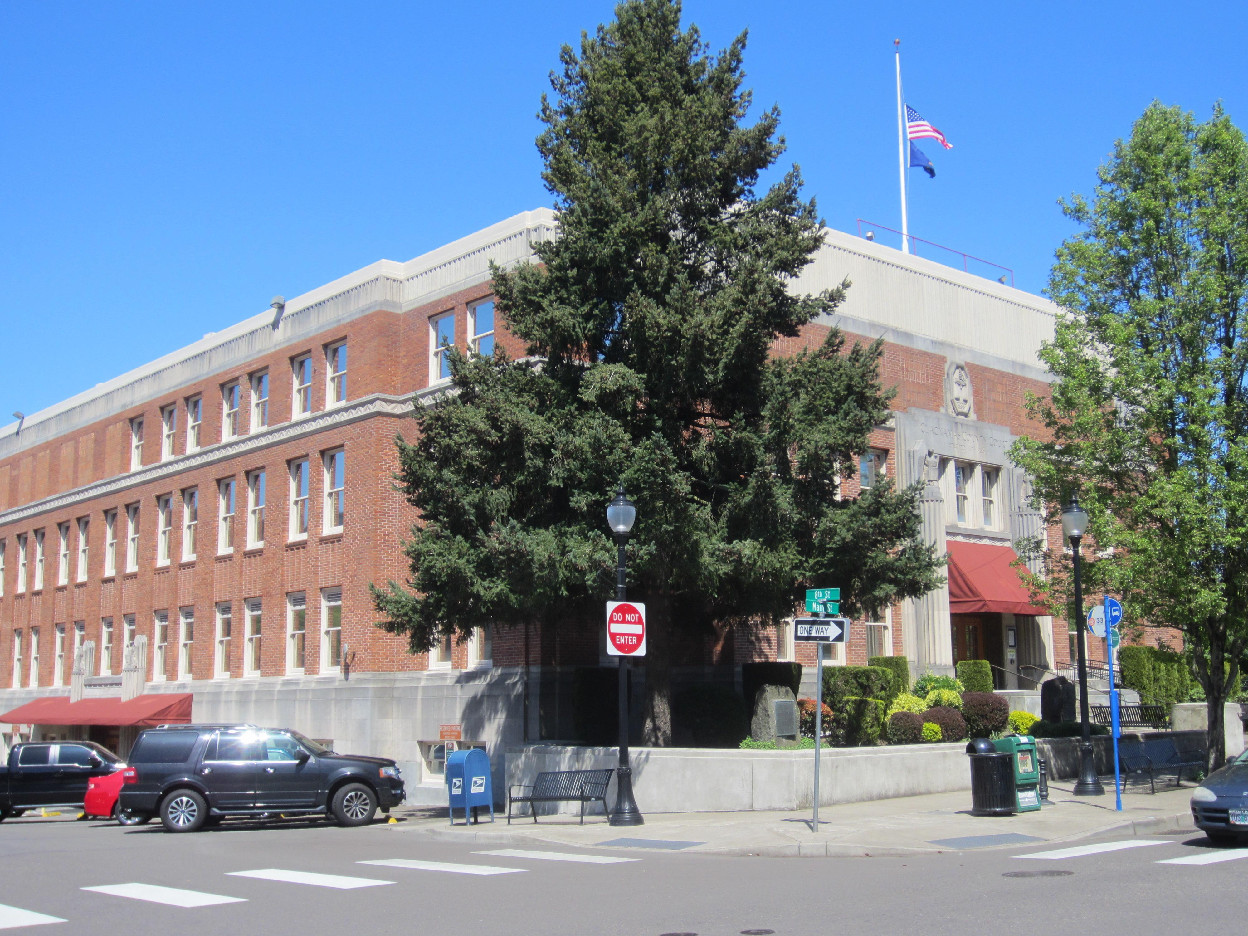 Clackamas County Courthouse - Wikipedia Pertaining To Clackamas County Courthouse Schedule