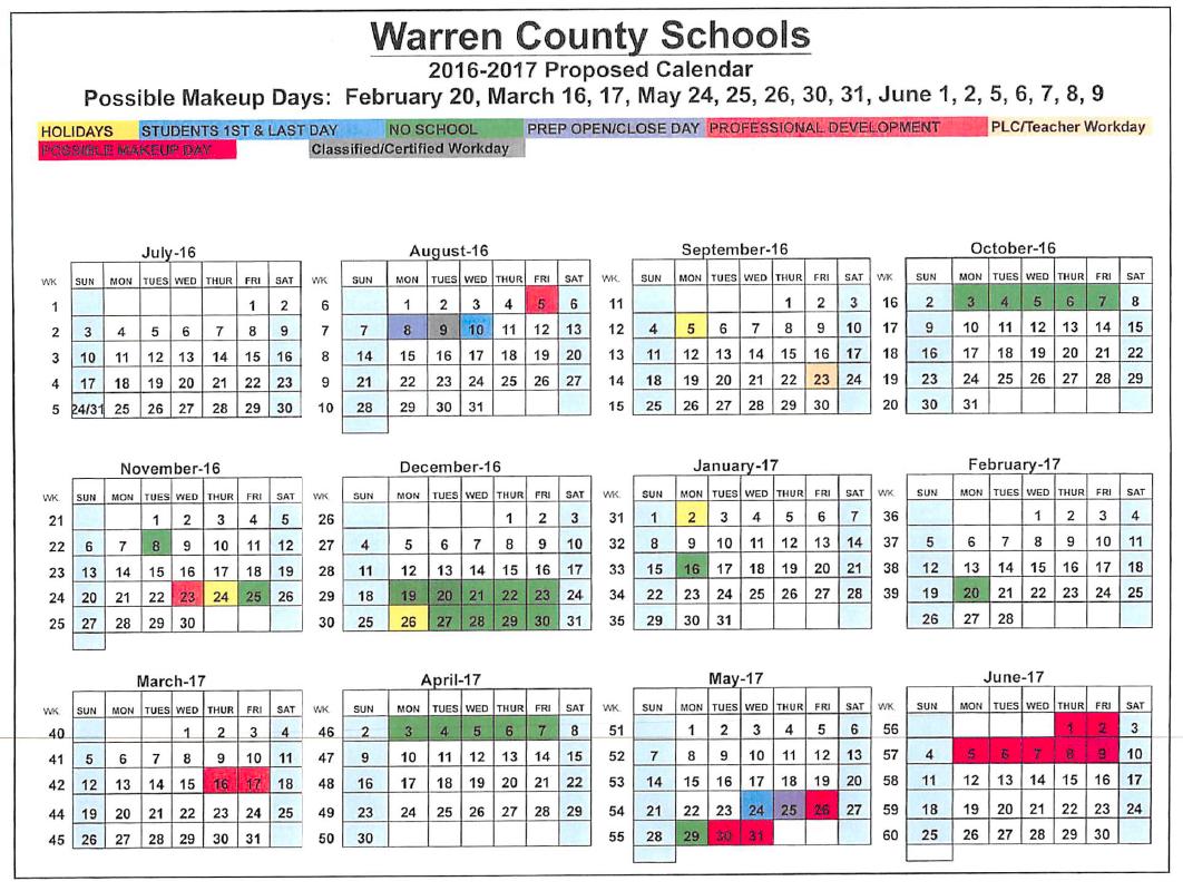 County Schools Adopt Calendar | News | Bgdailynews regarding Warren Co Ky School Spring Break