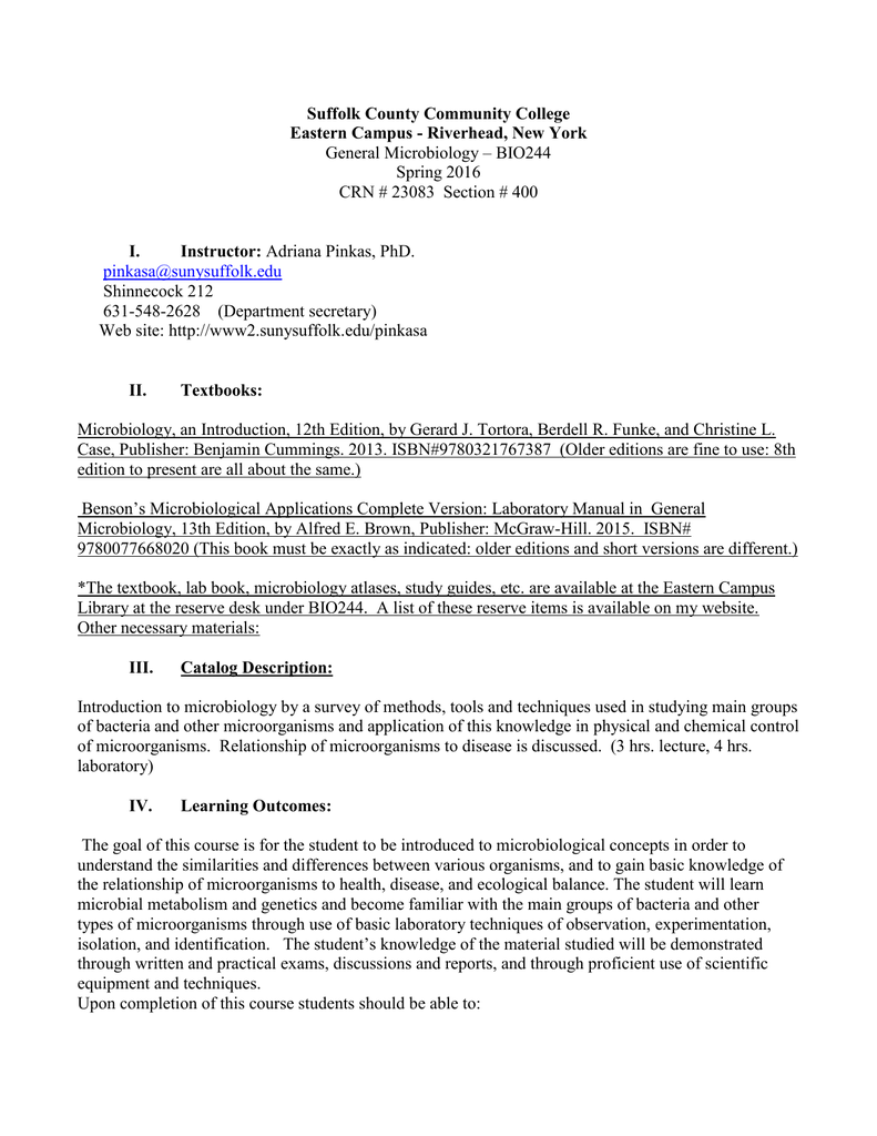Course Outline - Suffolk County Community College for When Is Spring Break For Suffolk Community College