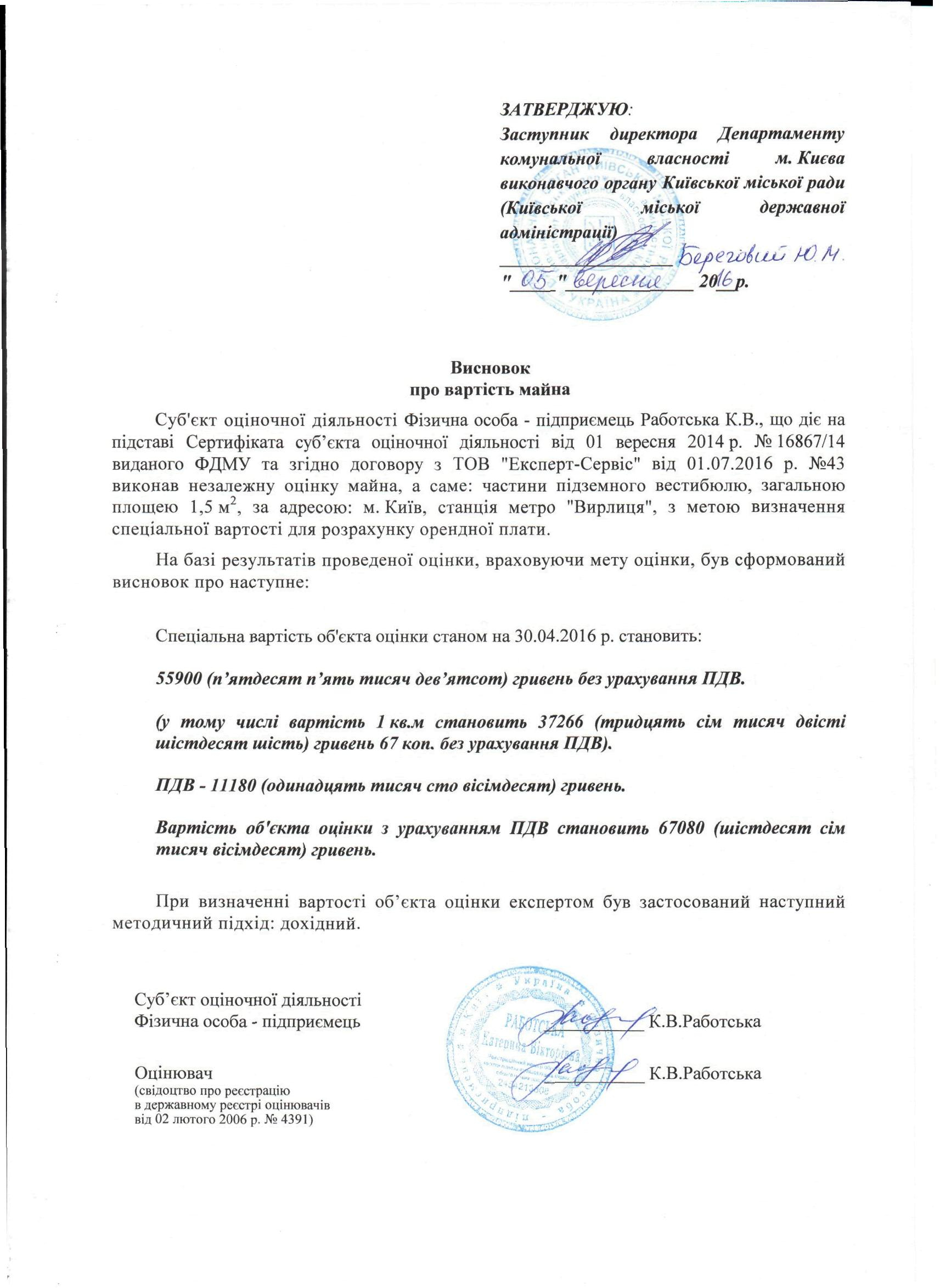 Висновок Вирлиця | Департамент Комунальної Власності М.києва For Is Full Sail Quarter Or Semester
