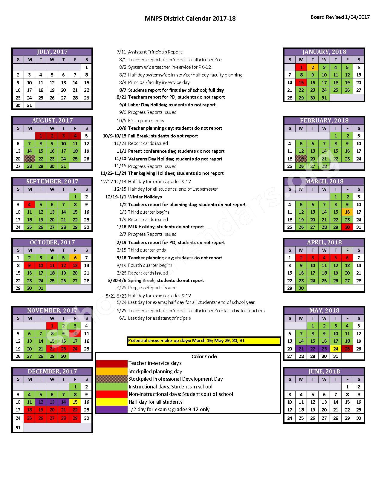 Davidson County Schools (Metropolitan Nashville Public Pertaining To When Is Spring Break For Davidson County Tn