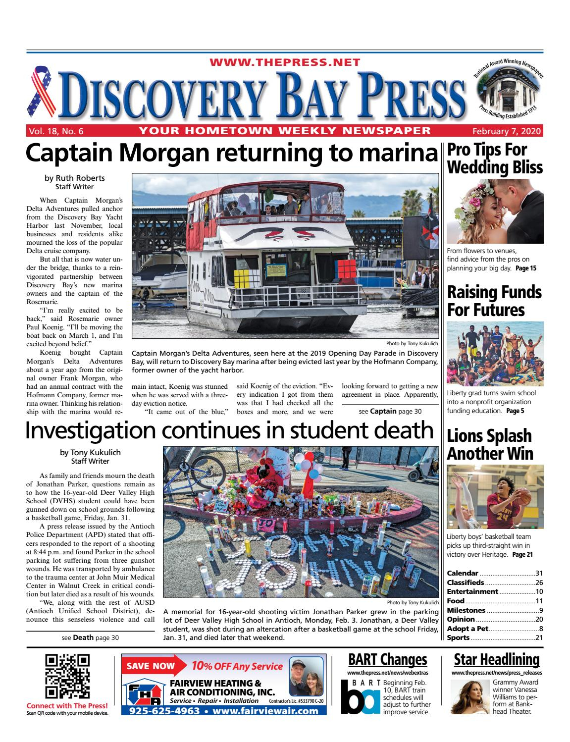 Discovery Bay Press 02.07.2020Brentwood Press Inside 2020 Modified Traditional Instructional Calendar 2020 Lodi Unified School District