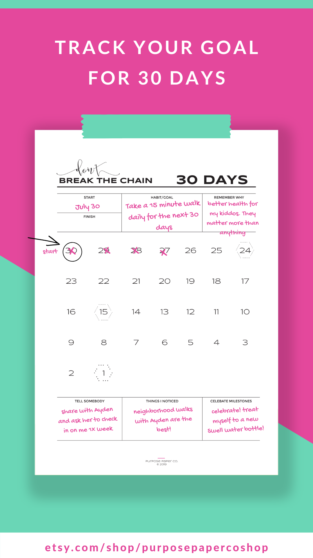 Don't Break The Chain Habit Building Tracker 30 Day - 60 Day Throughout 60 Calander Days From Today