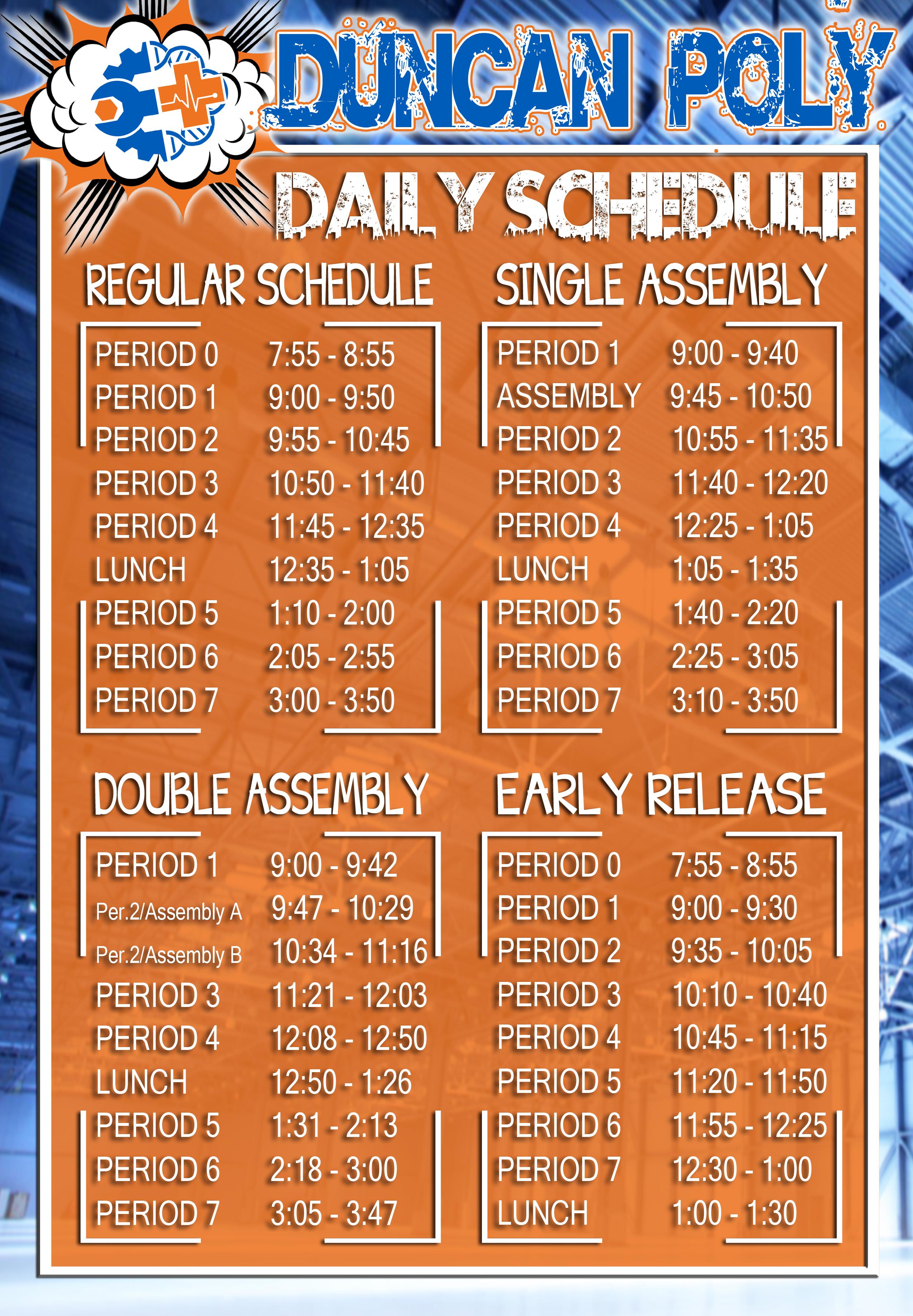 Duncan Bell Schedules Throughout Fresno Unified School Calendar
