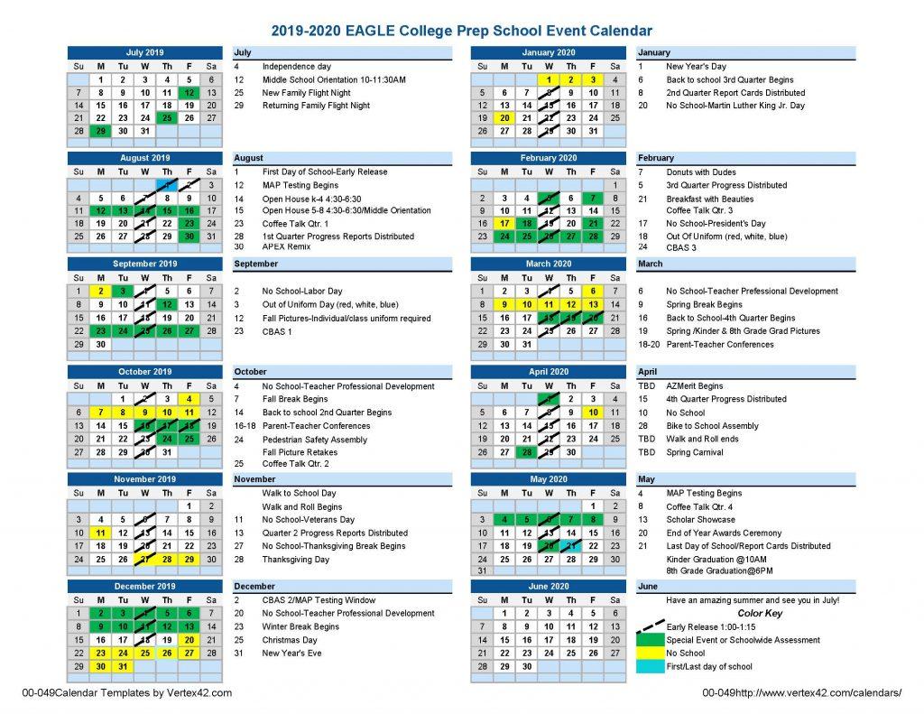 Eagle South Mountain Calendar   Eagle College Prep With Regard To Gcu Academic Calendar 2021 20