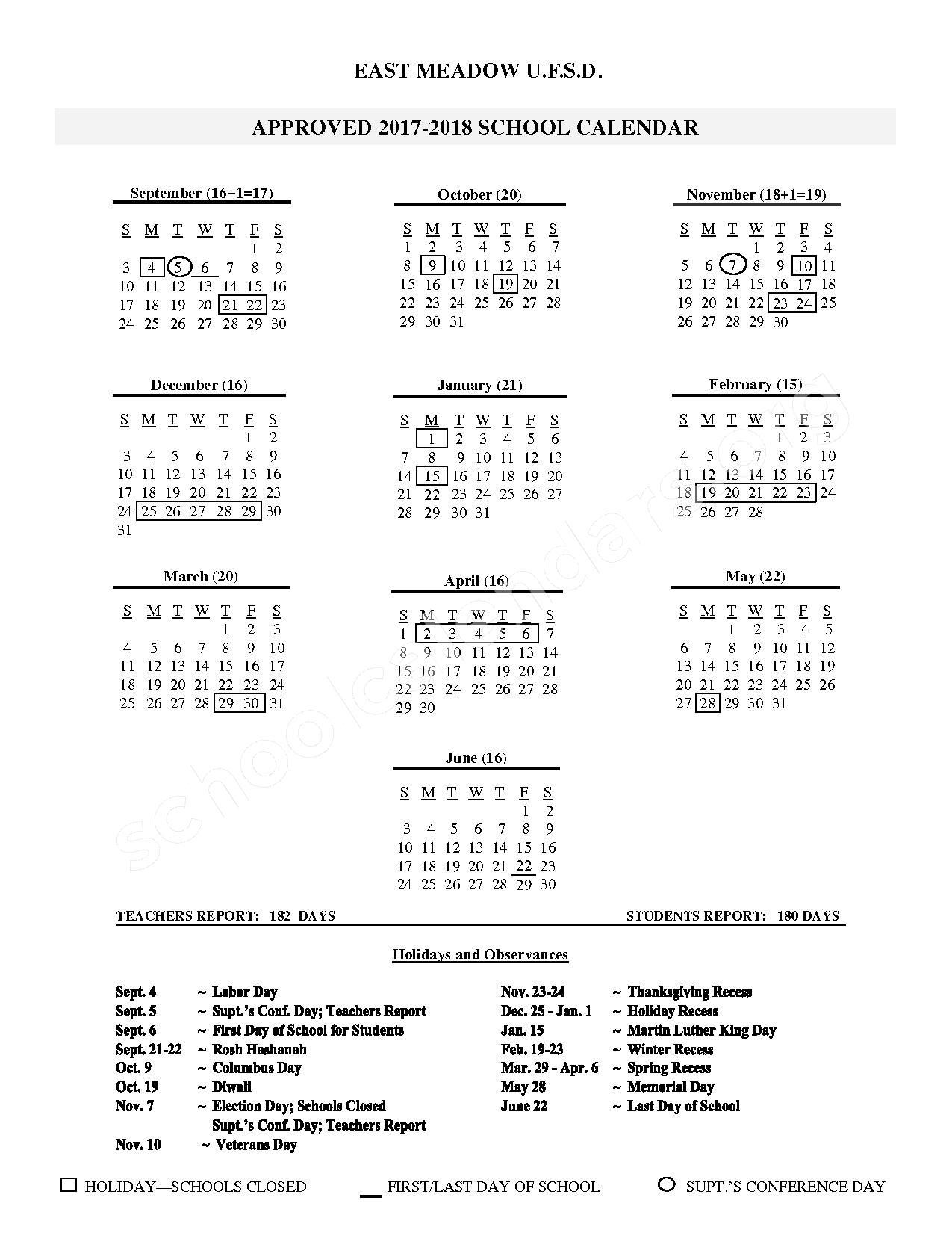 East Meadow High School Calendars – East Meadow, Ny in East Meadow School District Calendar