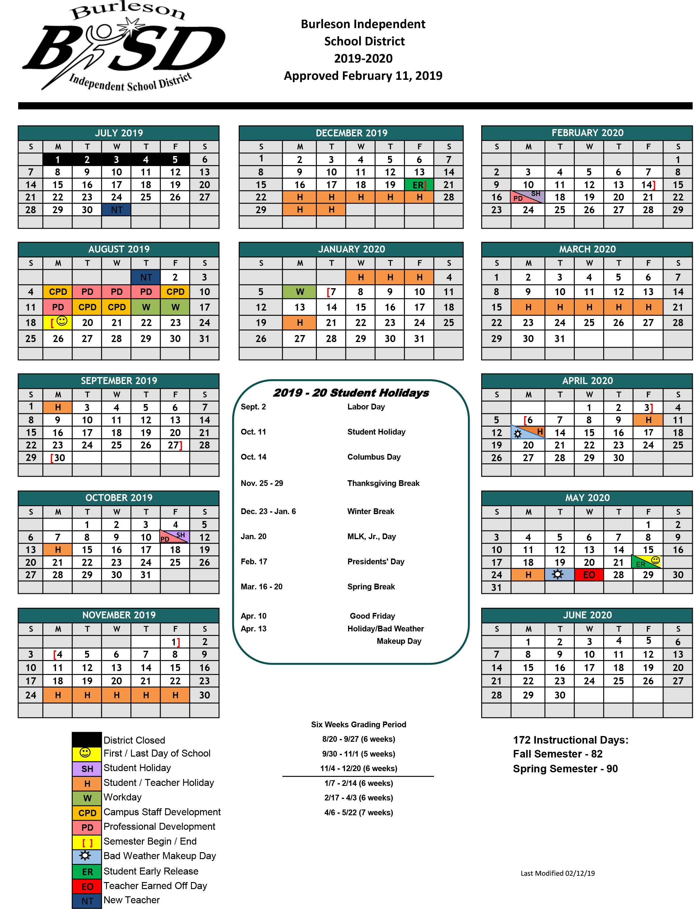Educational Operations / Summer School For Brownsville Bisd School District Calendar