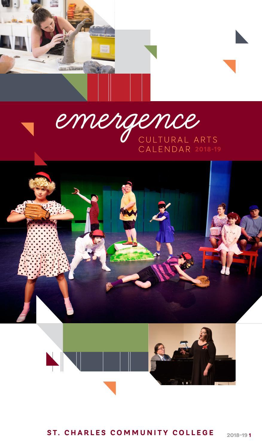 Emergence Arts Calendar 2018-2019St. Charles Community within Calendar Of St.charles Community College