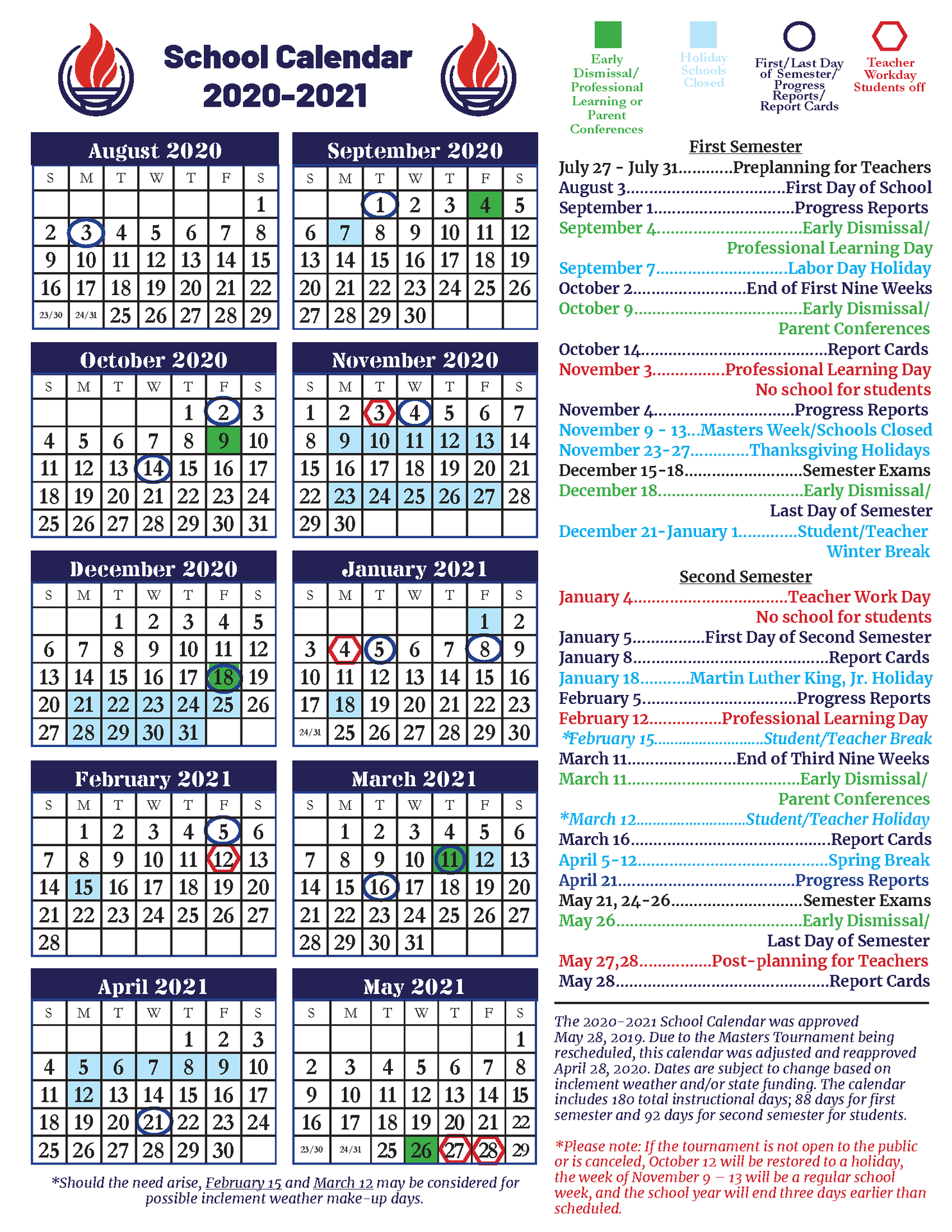 End Of School Year Information – Ccsd Coronavirus Response With Aiken County Scholl Calenda