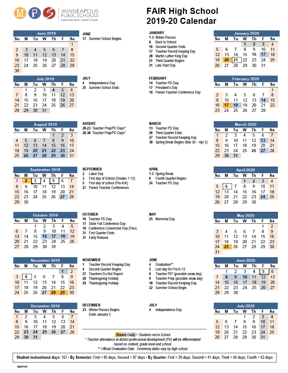 Equity, Innovation, Excellence And Creativity For U Of M Twin Cities 2020 2021 Calendar