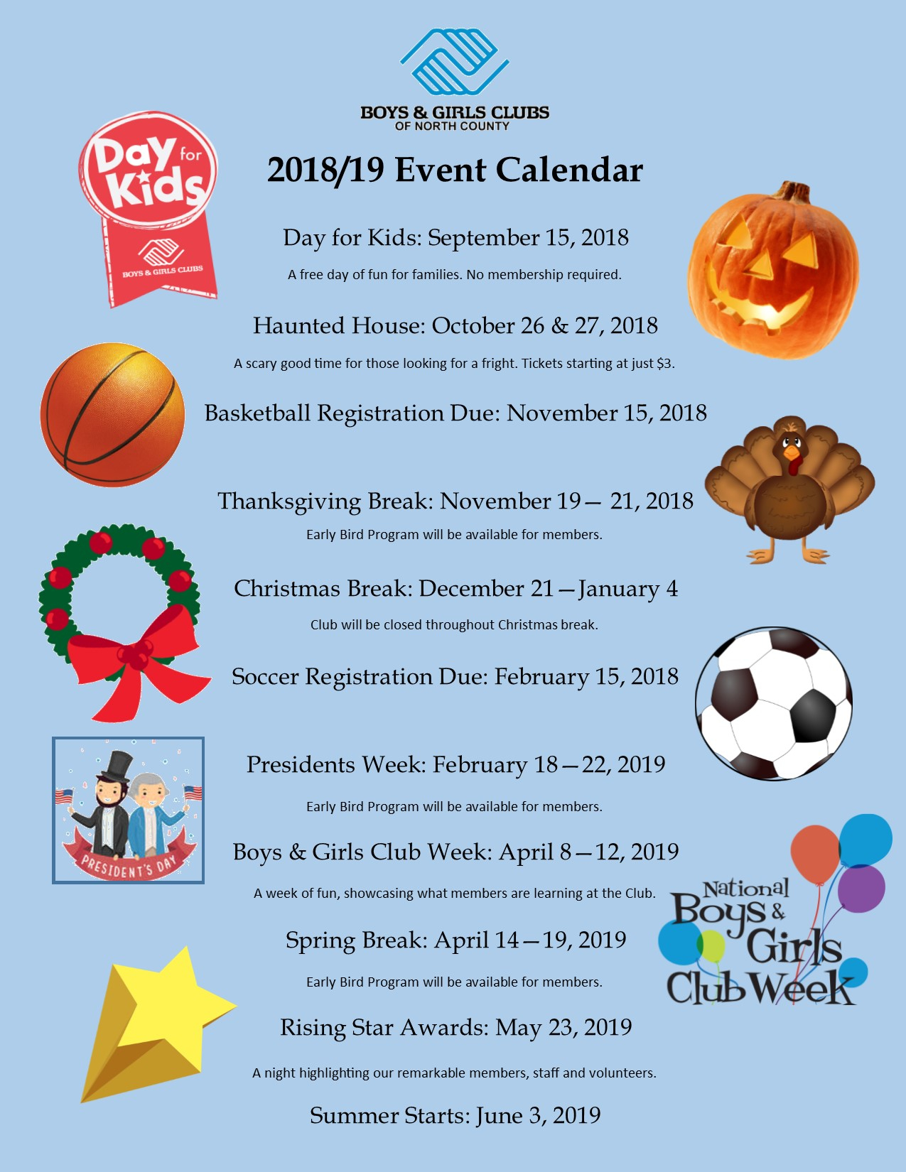 Events – Boys & Girls Clubs Of North County Throughout Boys And Girls Club Spring Break