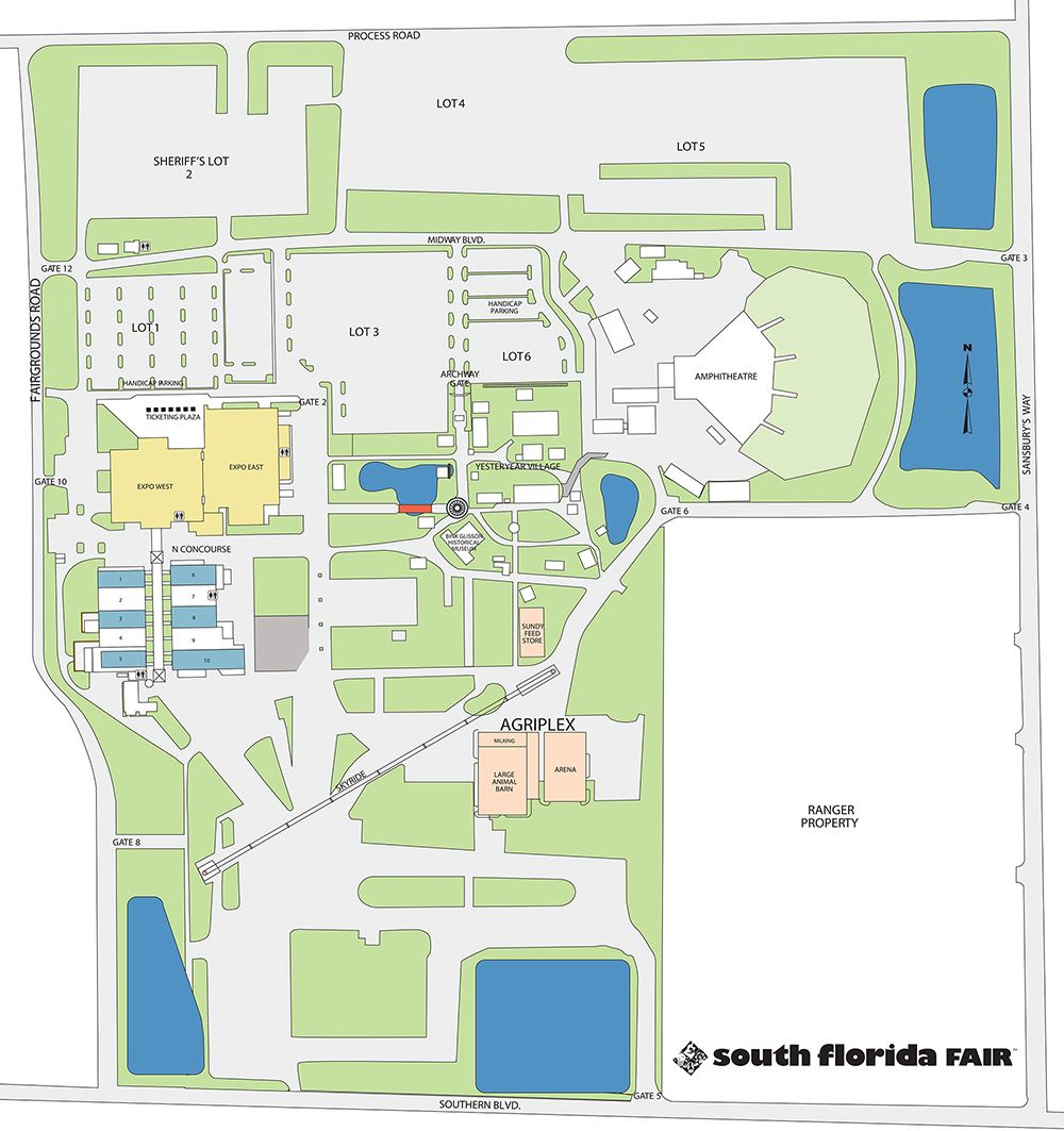 Facilities Map Throughout South Florida Fairgrounds Event Schedule