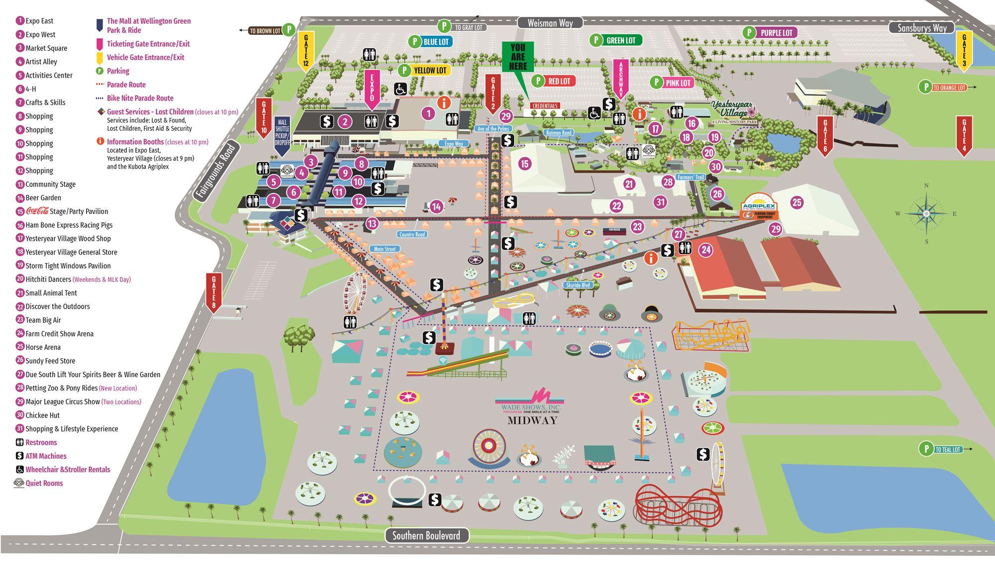 Fairgrounds Map Within South Florida Fairgrounds Events Calendar