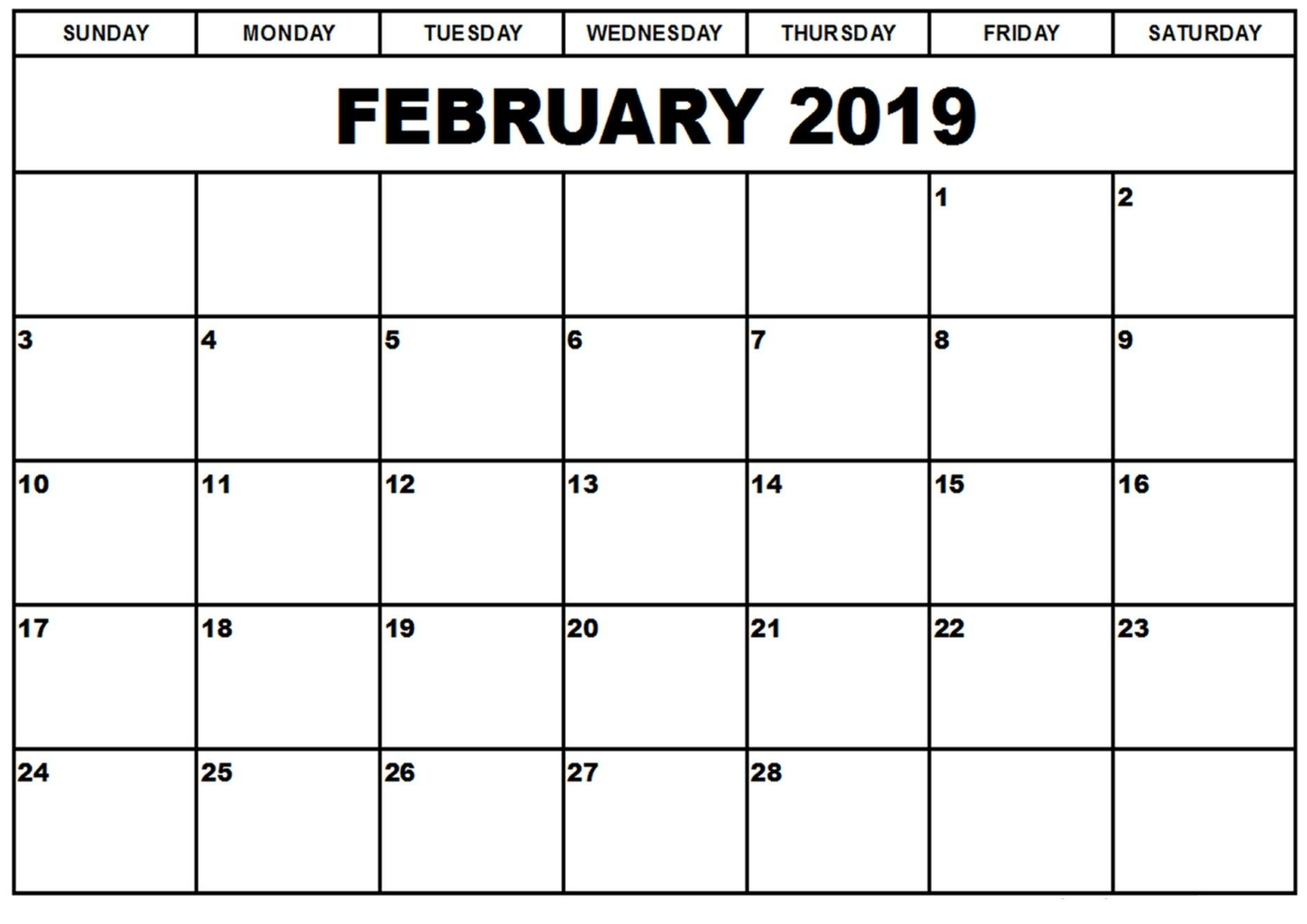February 2019 Calendar Fillable (With Images) | Editable Inside Free June 2020 Activities Calendar Template Assisted Living Editable