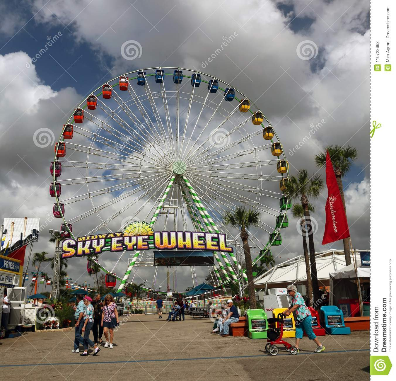 Ferris Wheel At Florida State Fairgrounds Editorial Stock With Regard To Florida State Fairgrounds Events