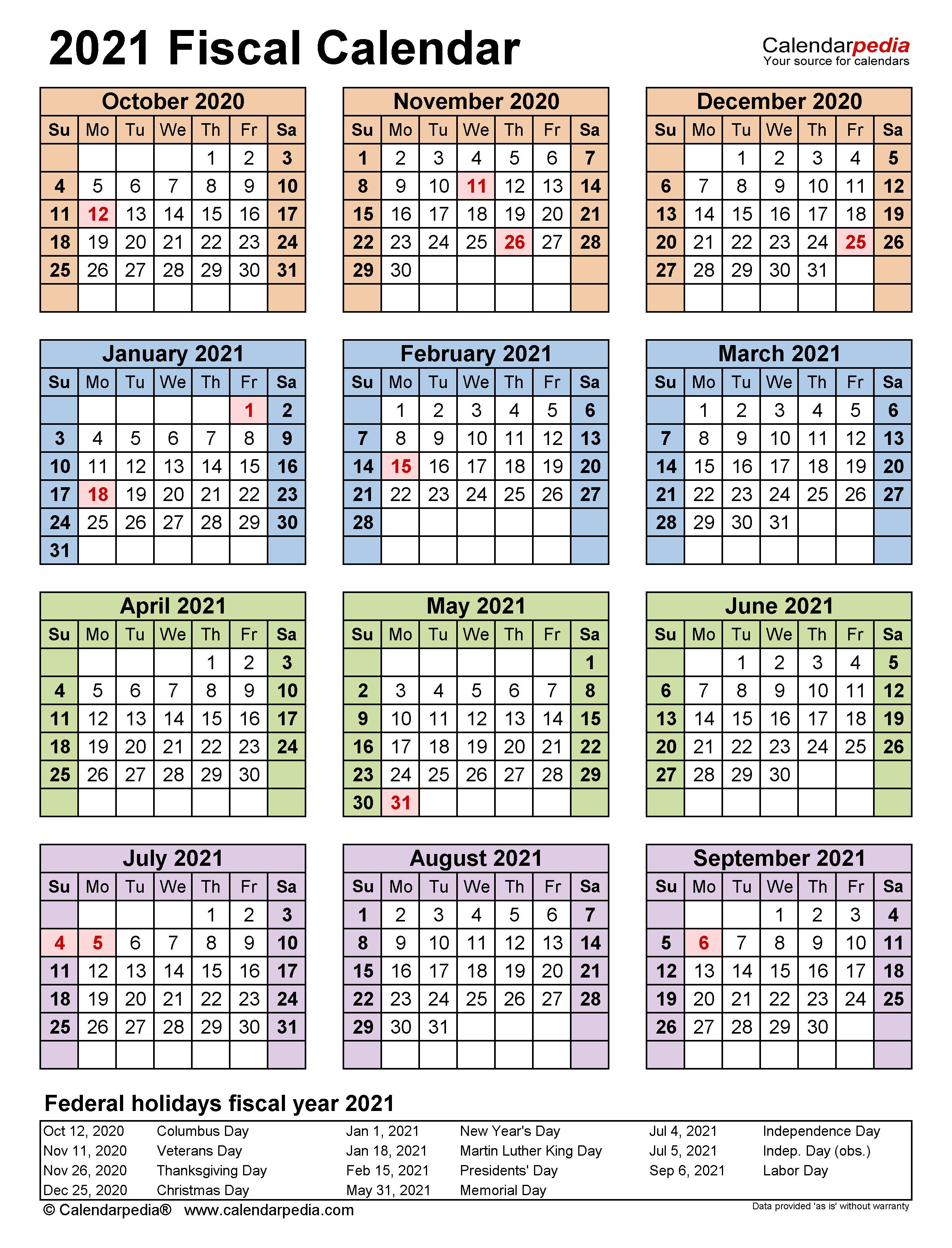 Fiscal Calendars 2021 - Free Printable Pdf Templates For 4 5 4 Retail Calendar 2021