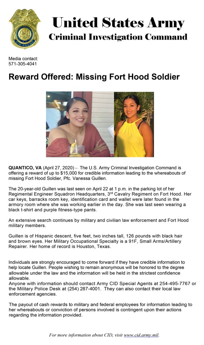 """Fort Hood On Twitter: """"missing Soldier Update: Reward Within Ft Hood Early Pay Day"""