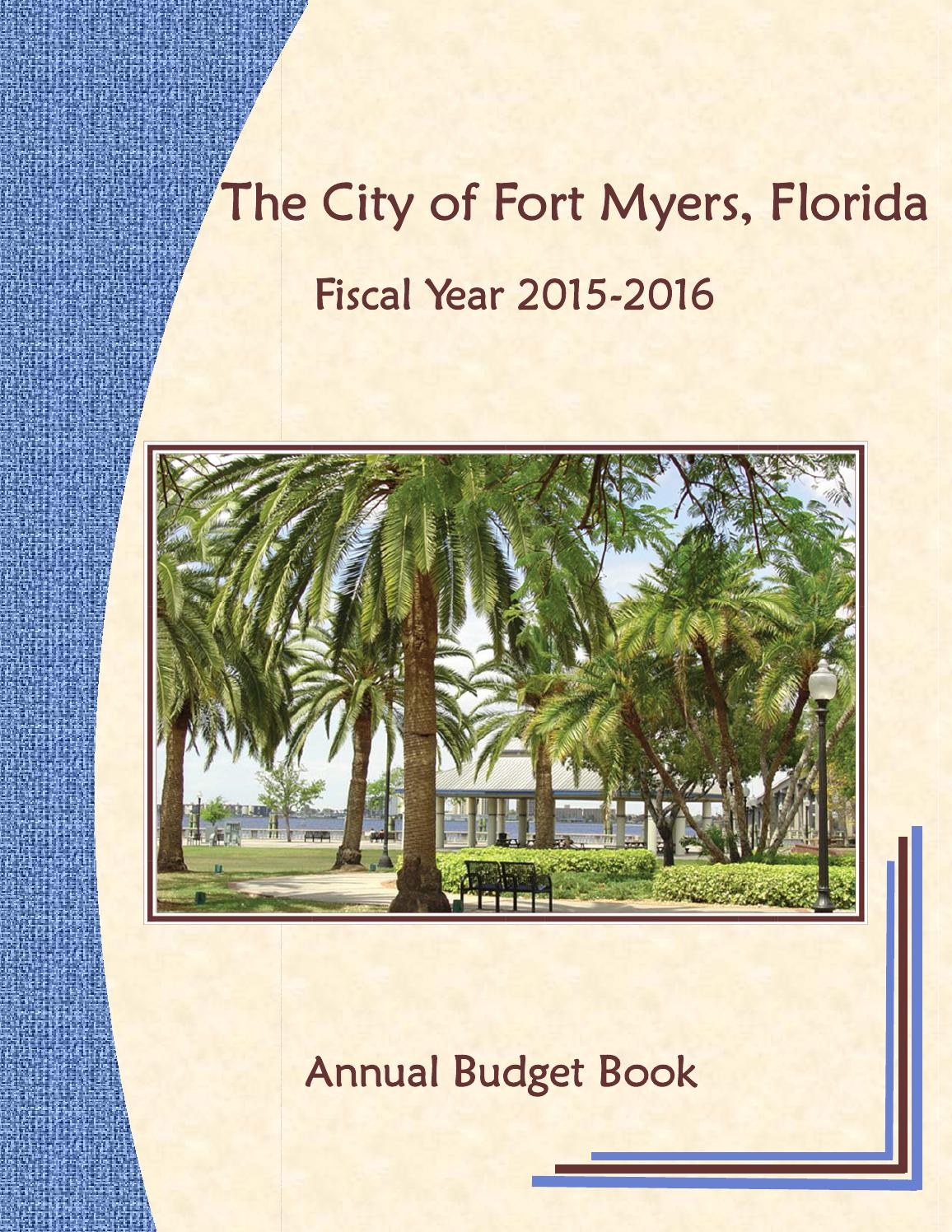 Fort Myers Annual Budget Fy 2015 - 2016Fort Myers intended for Palm Beach County School Calendar 2015/2020