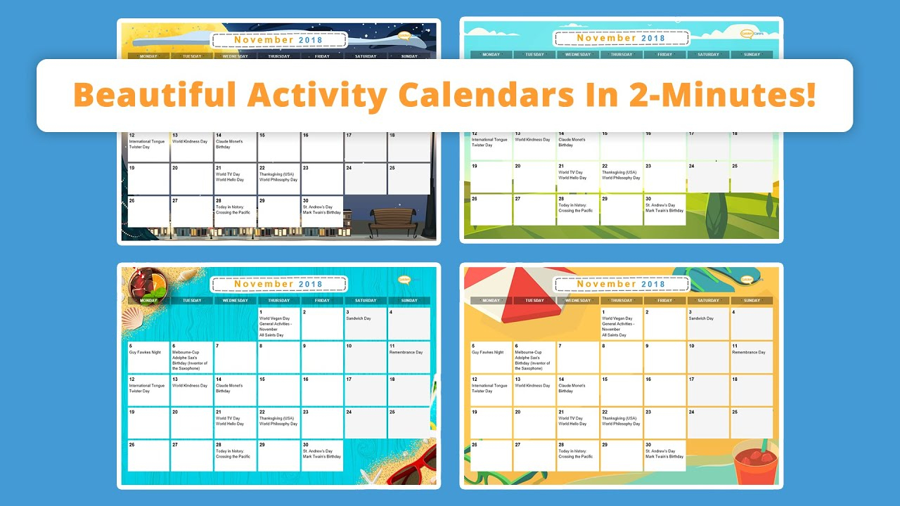 Free Activity Calendar For Seniors in Free June 2020 Activities Calendar Template Assisted Living Editable
