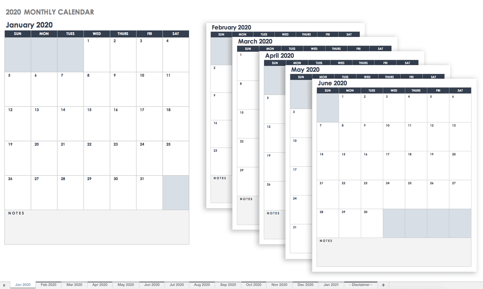 Free Google Calendar Templates | Smartsheet Intended For How To Create A Printable Calendar In G Suite