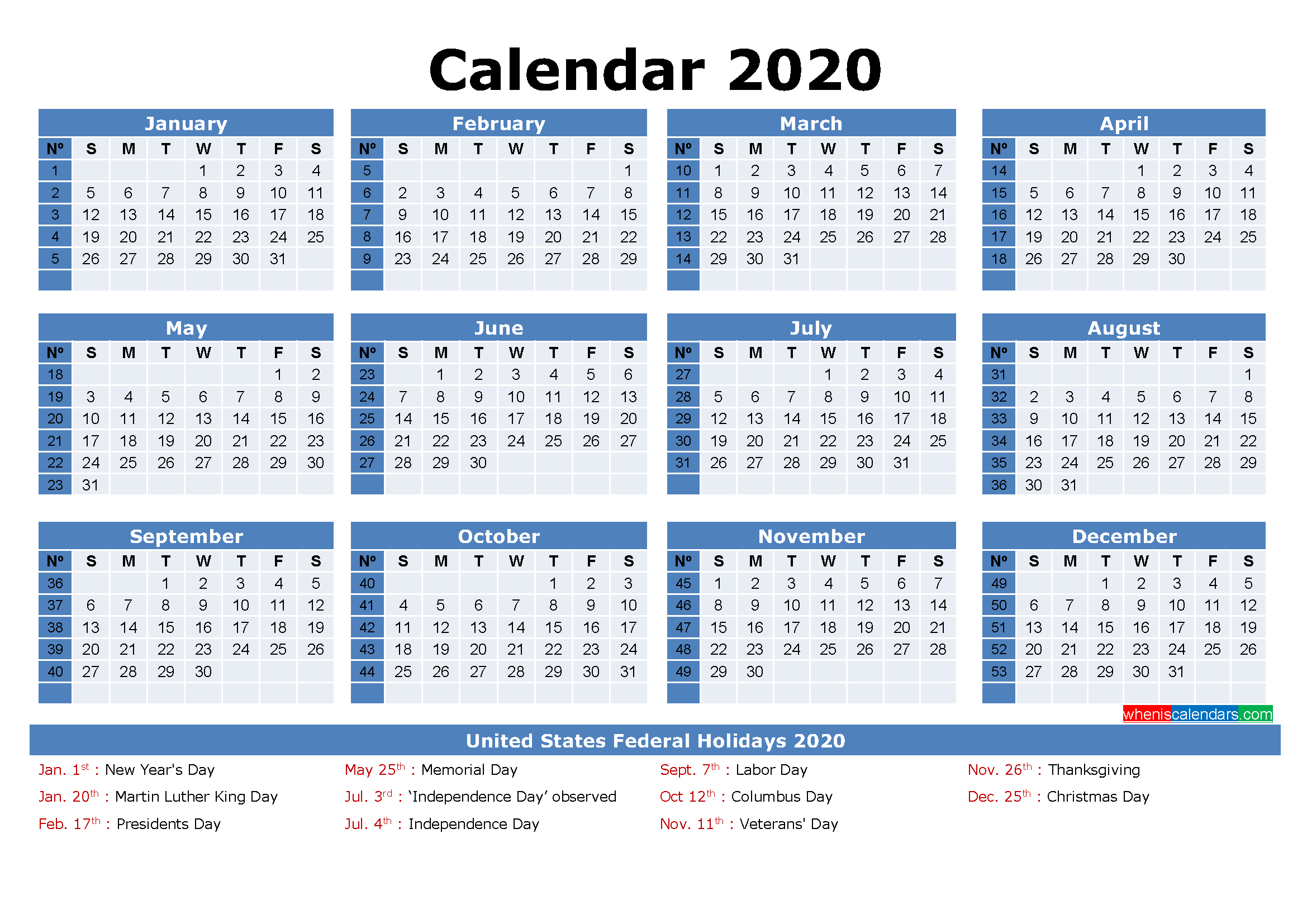 Free Printable 2020 Monthly Calendar With Holidays Within Julian Vs Gregorian Calendar 2021