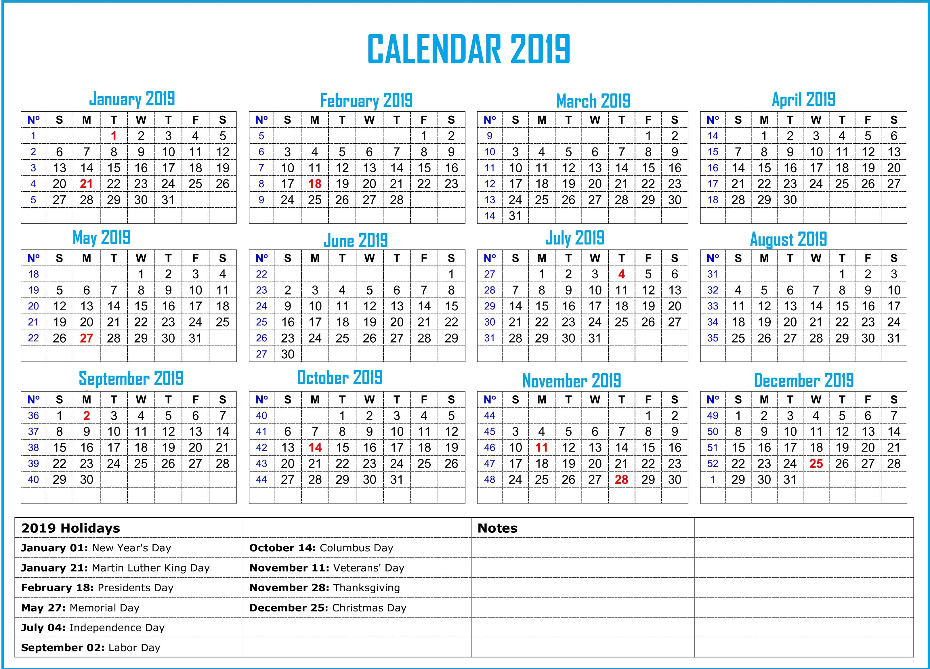 Free Yearly 12 Month Calendar One Page Template Printable Inside 12 Mo Calendar Template One Page No Dates