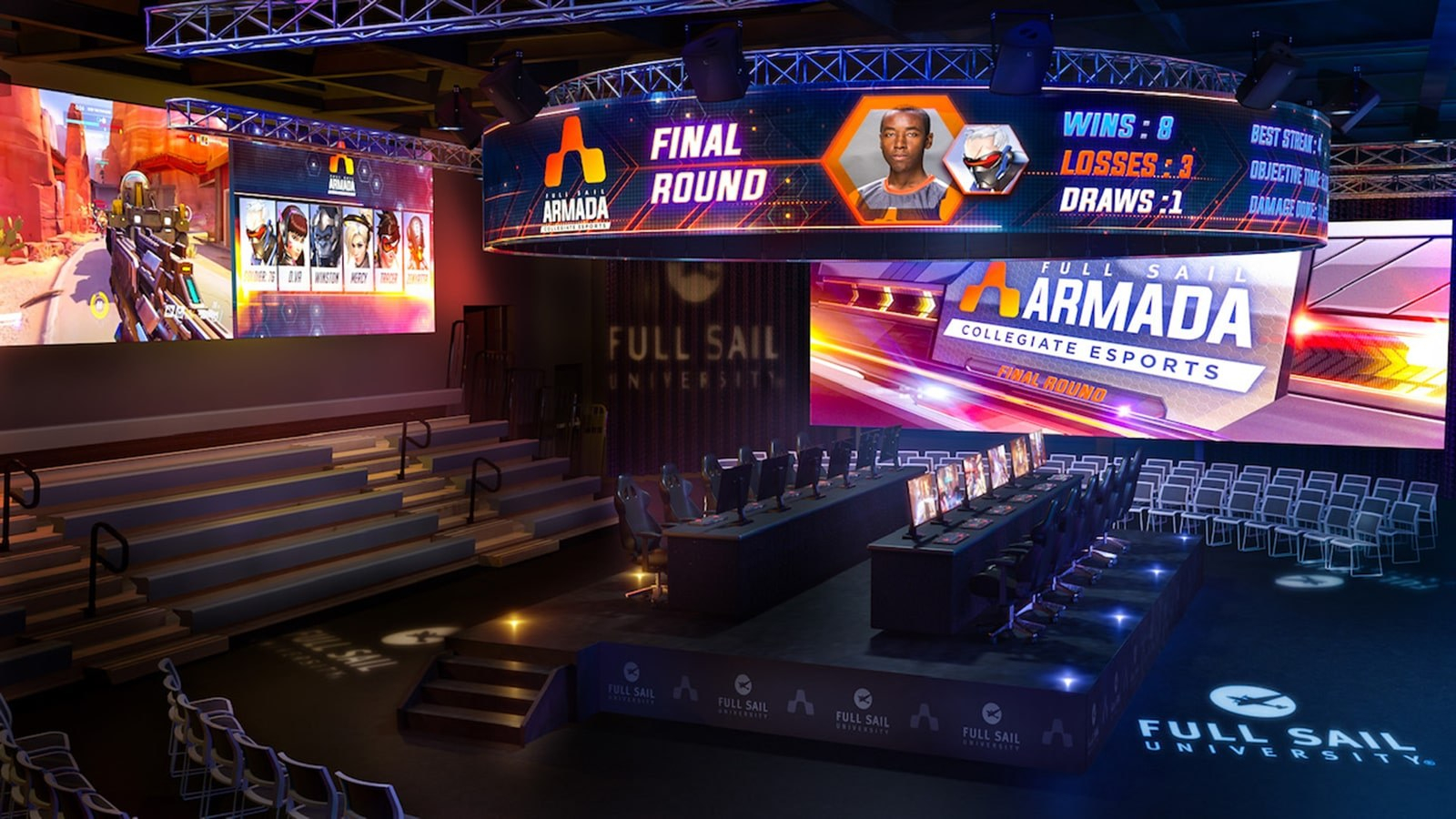 Full Sail Levels Up With Announcement Of New Esports Arena With Full Sail University Winter Break