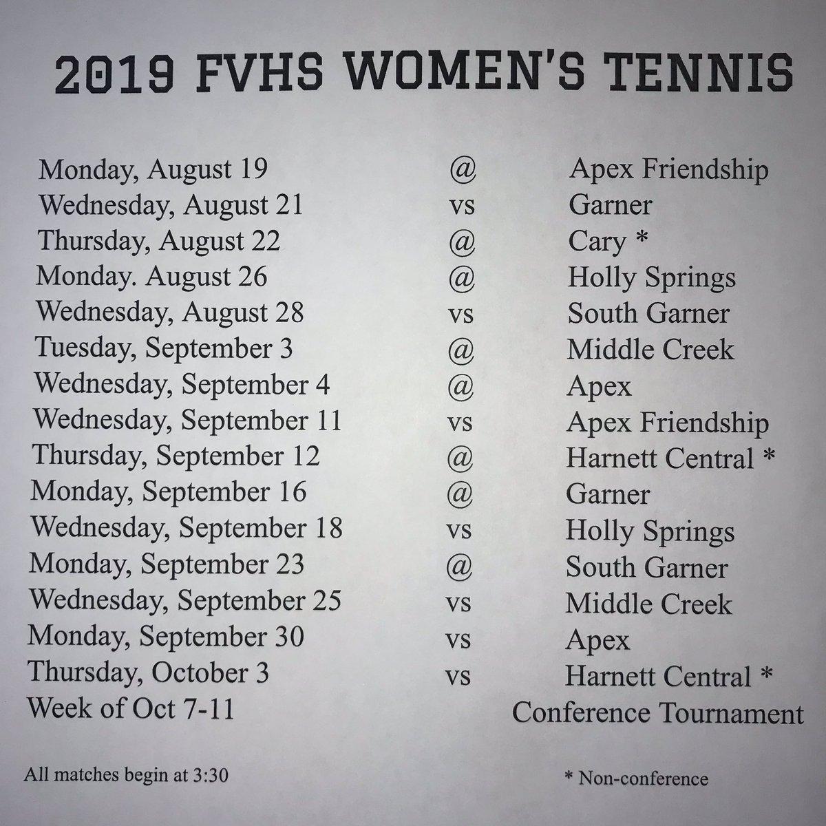 """Fvhs Womens Tennis On Twitter: """"mark Your Calendar! ✏️🎾… """" For Fvhs School Calendar"""