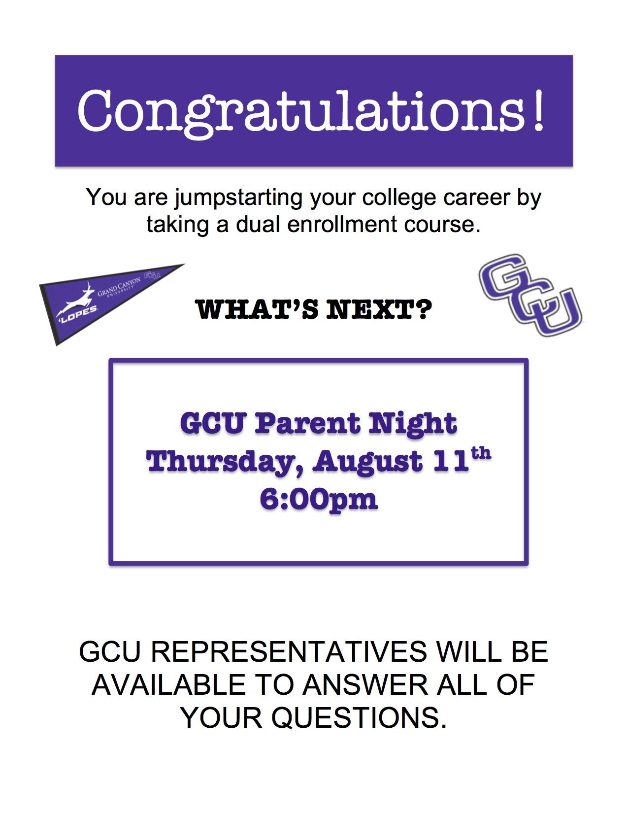 Gcu Parent Night Intended For 2021 2020 Gcu Academic Calendar