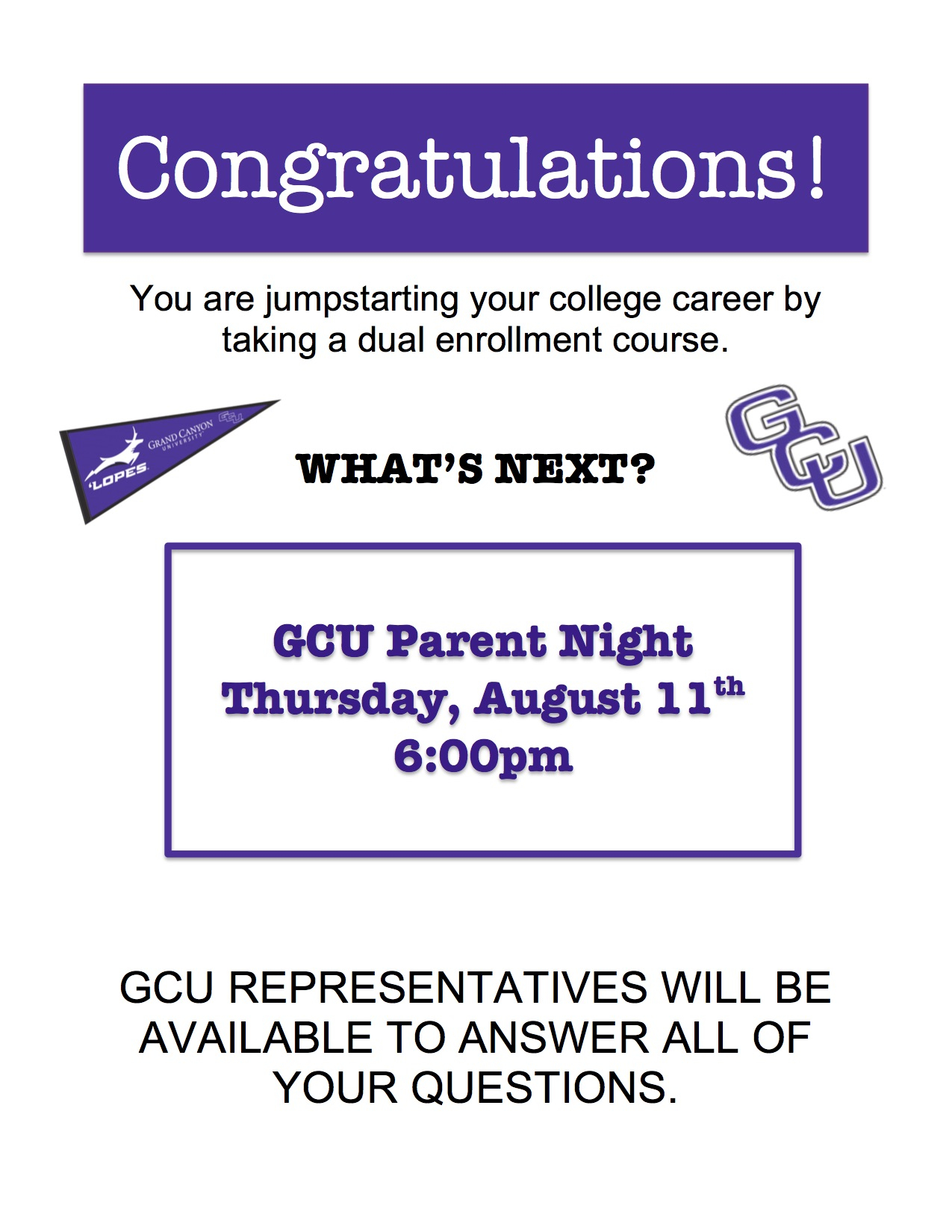 Gcu Parent Night Regarding Gcu Academic Calendar 2021 20