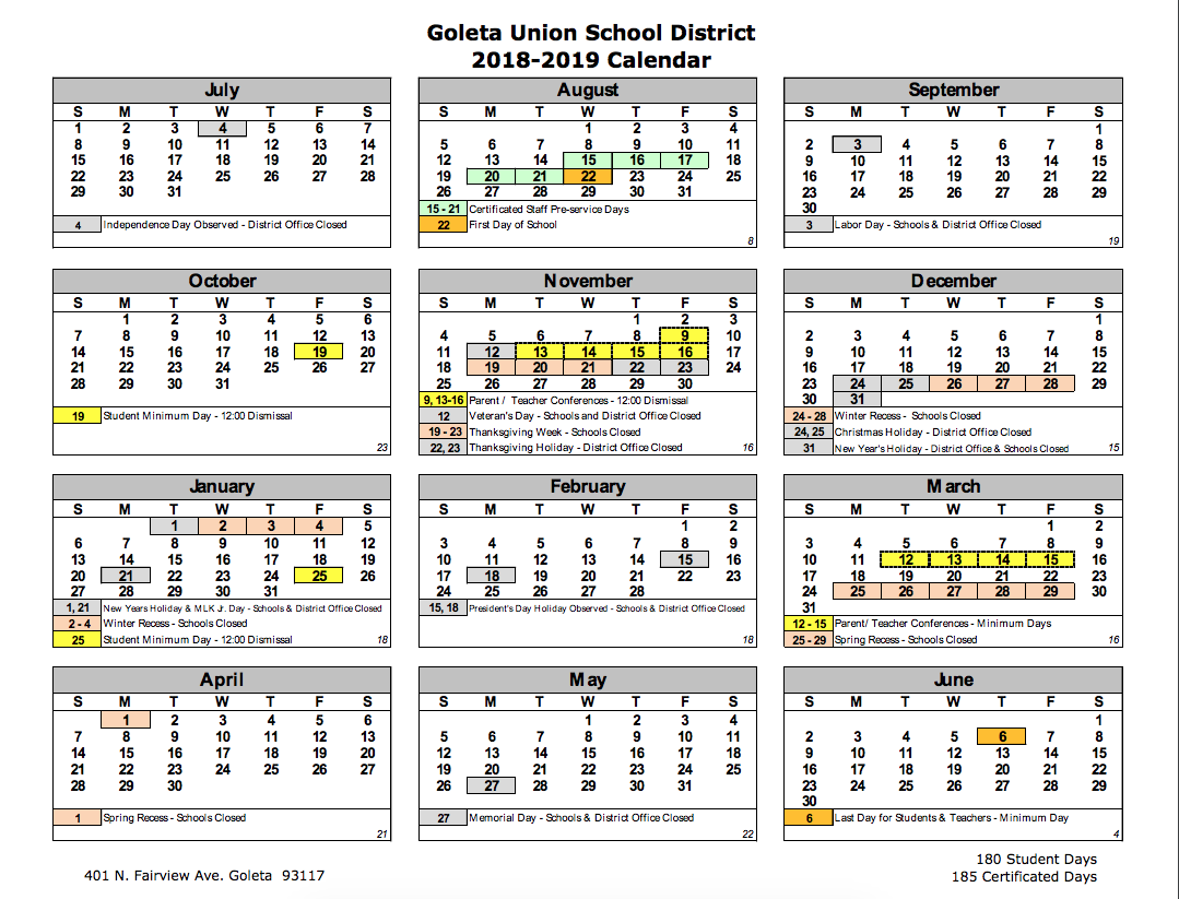Goleta District Calendar | Isla Vista Elementary Regarding Dos Pueblos High School Calendar 2021