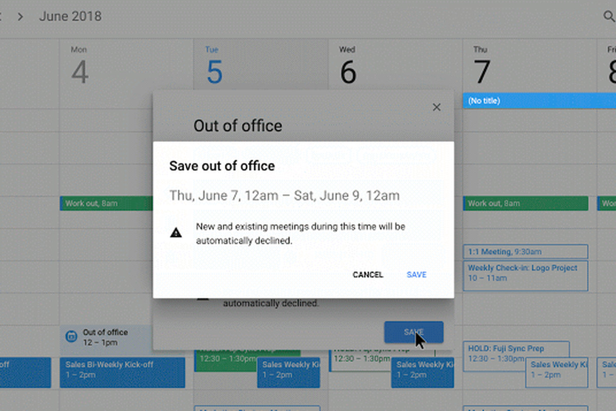 Google Calendar Now Has An 'out Of Office' Option – The Verge In Google Calender Adding Notes