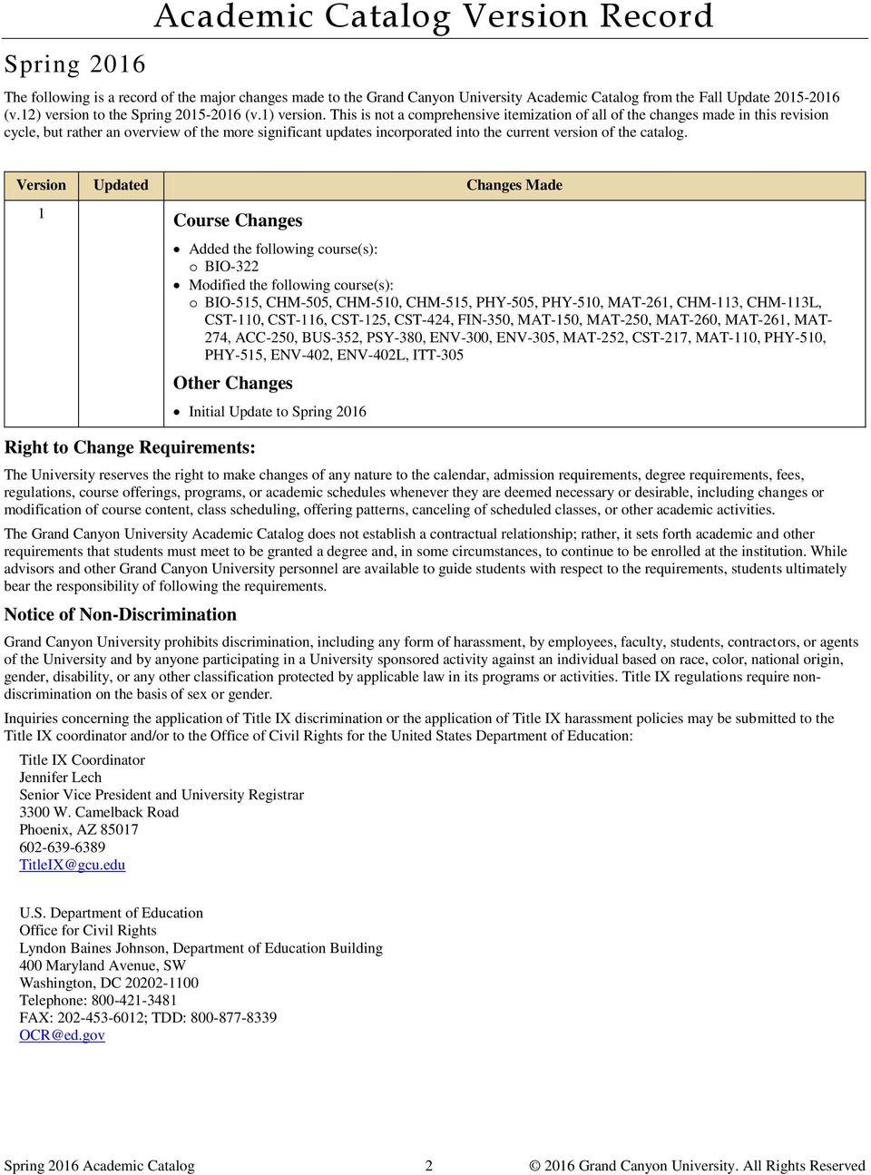 Grand Canyon University Academic Catalog – Pdf Free Download For Canyon University Vacation Calender